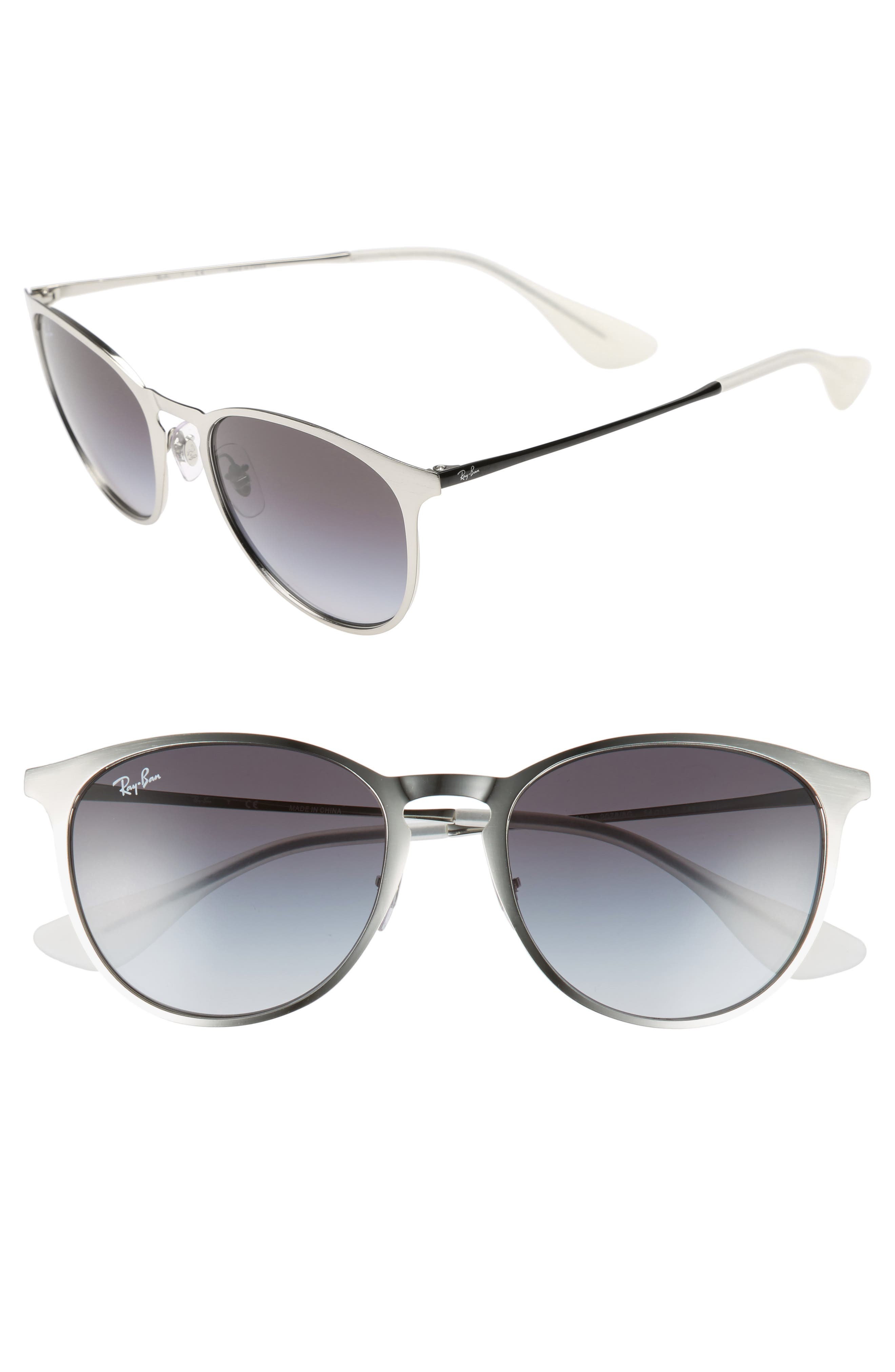 'Youngster' 54mm Sunglasses,                             Main thumbnail 1, color,                             Lite Silver