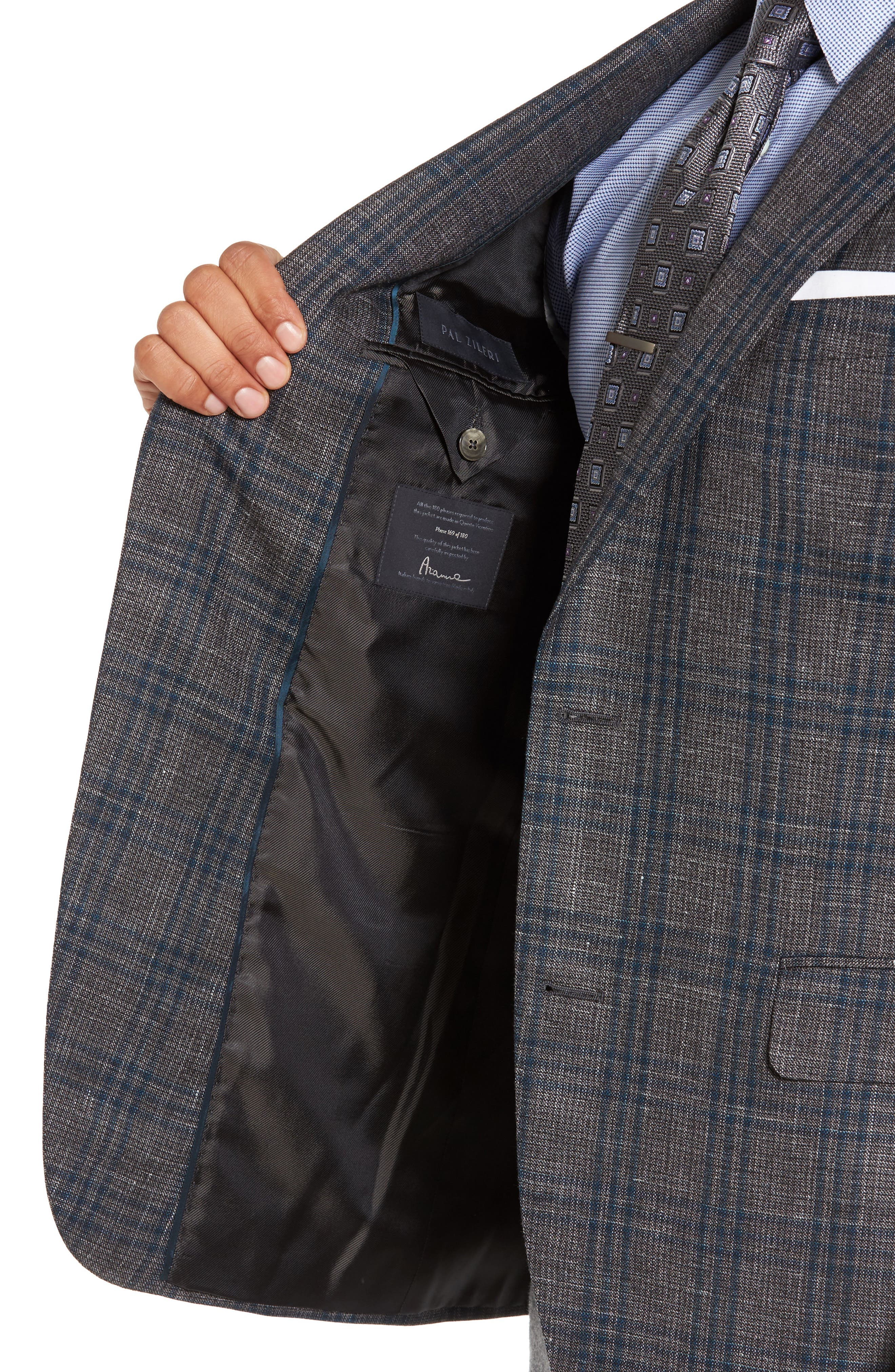 Alternate Image 4  - Pal Zileri Classic Fit Plaid Wool Sport Coat