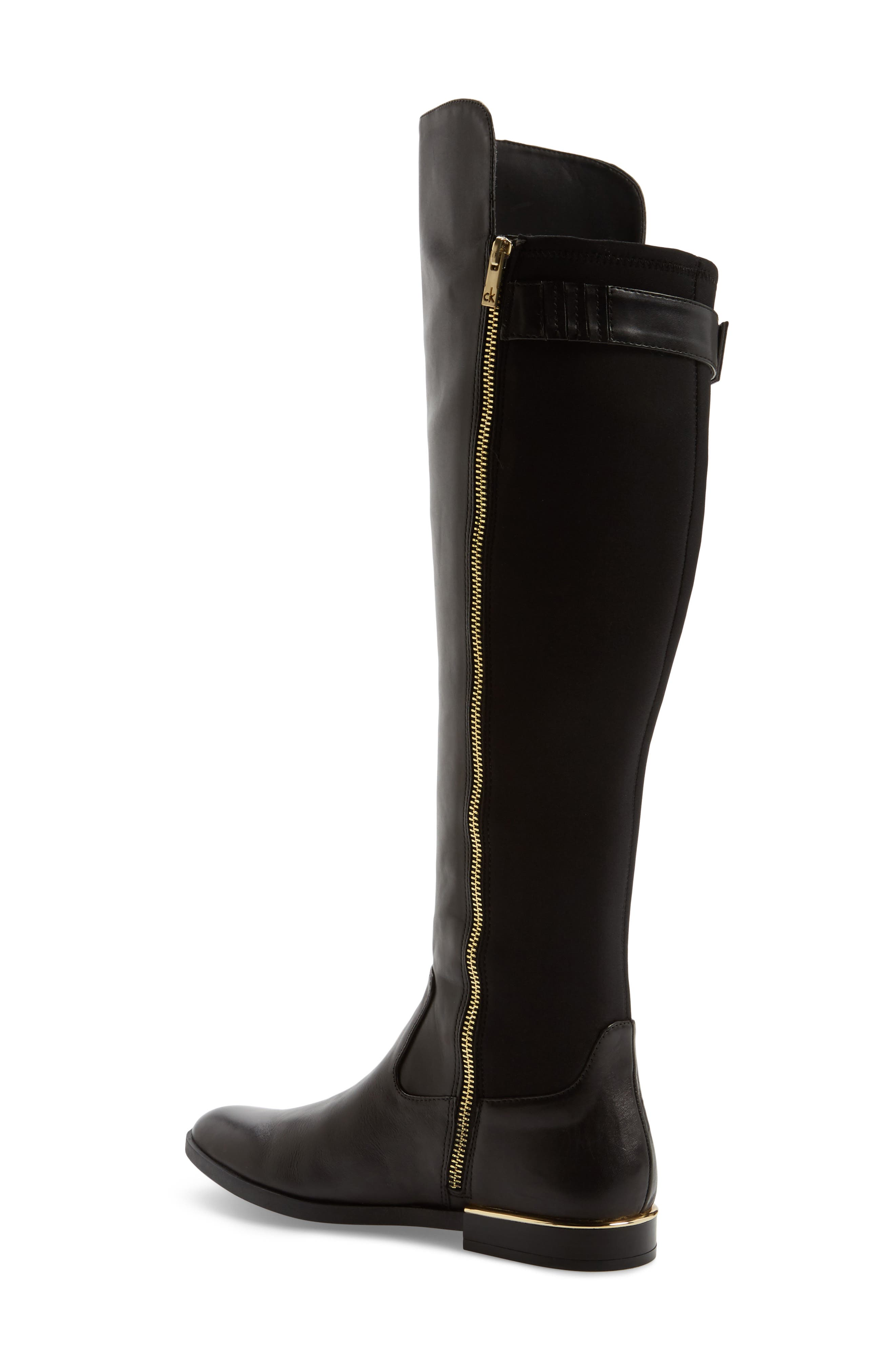 Priscila Over the Knee Boot,                             Alternate thumbnail 2, color,                             Black Leather