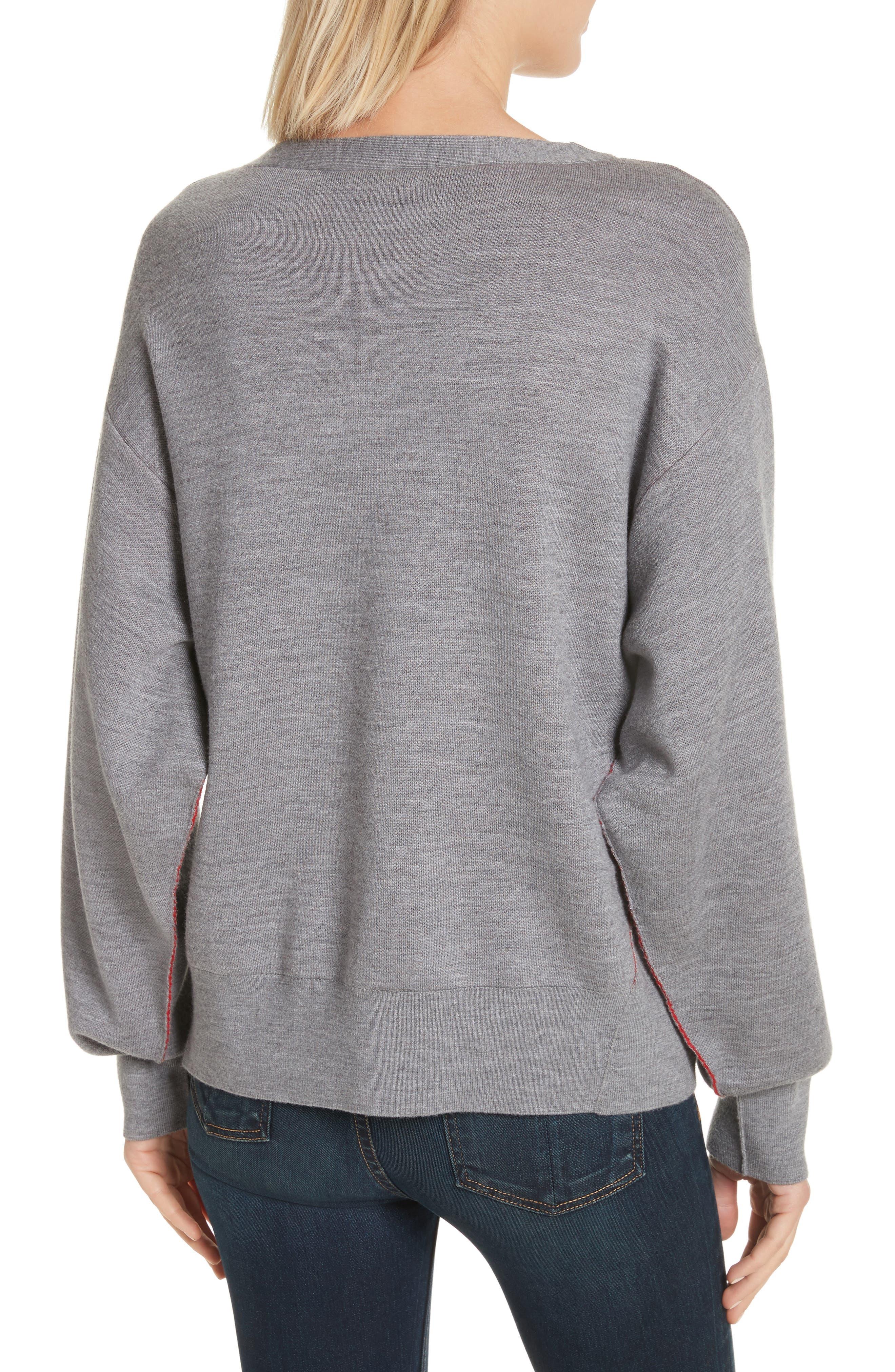 Alternate Image 3  - rag & bone Saralyn Merino Wool & Cotton Blend Crewneck Sweater