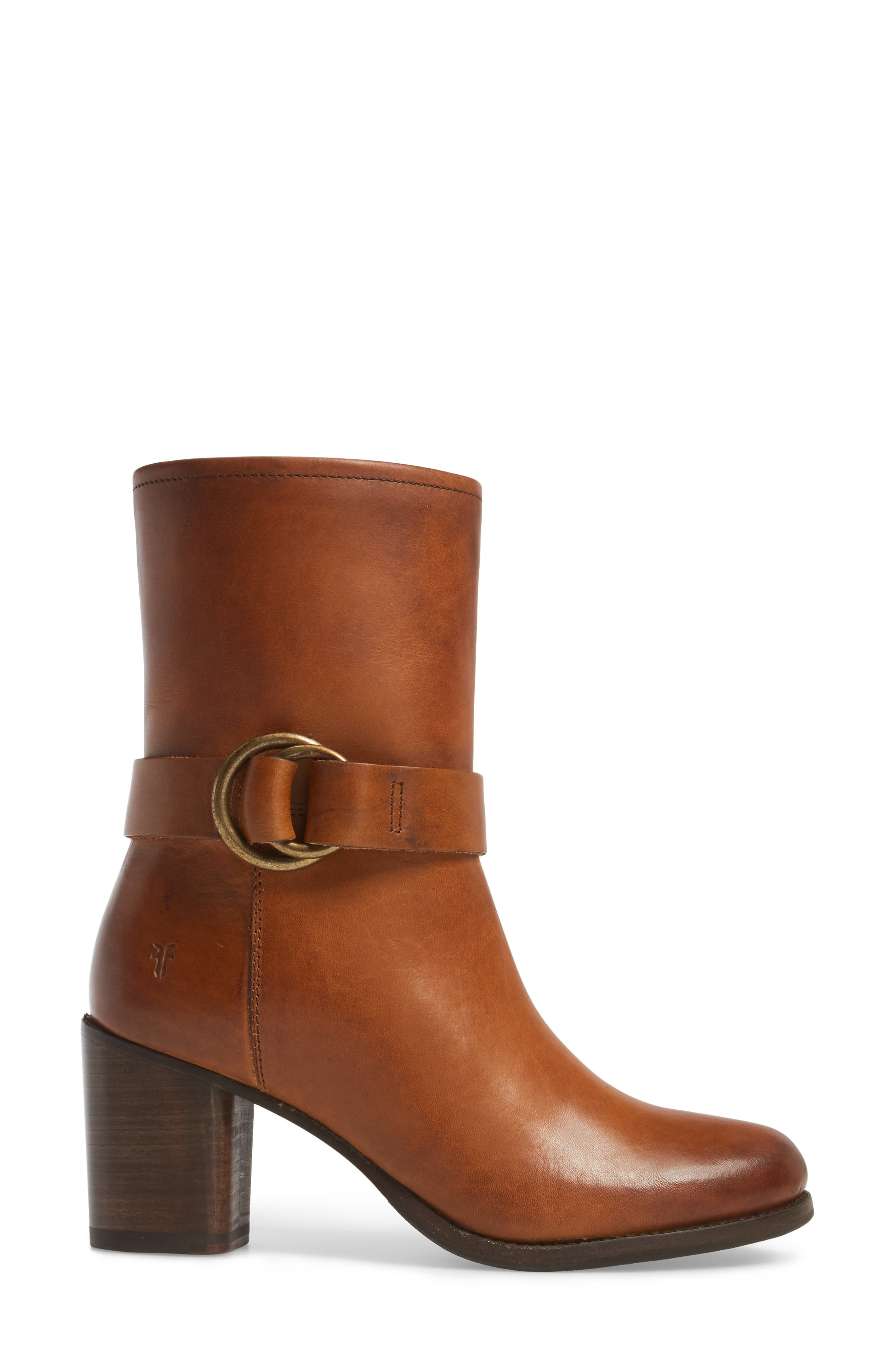 Addie Harness Boot,                             Alternate thumbnail 3, color,                             Brown