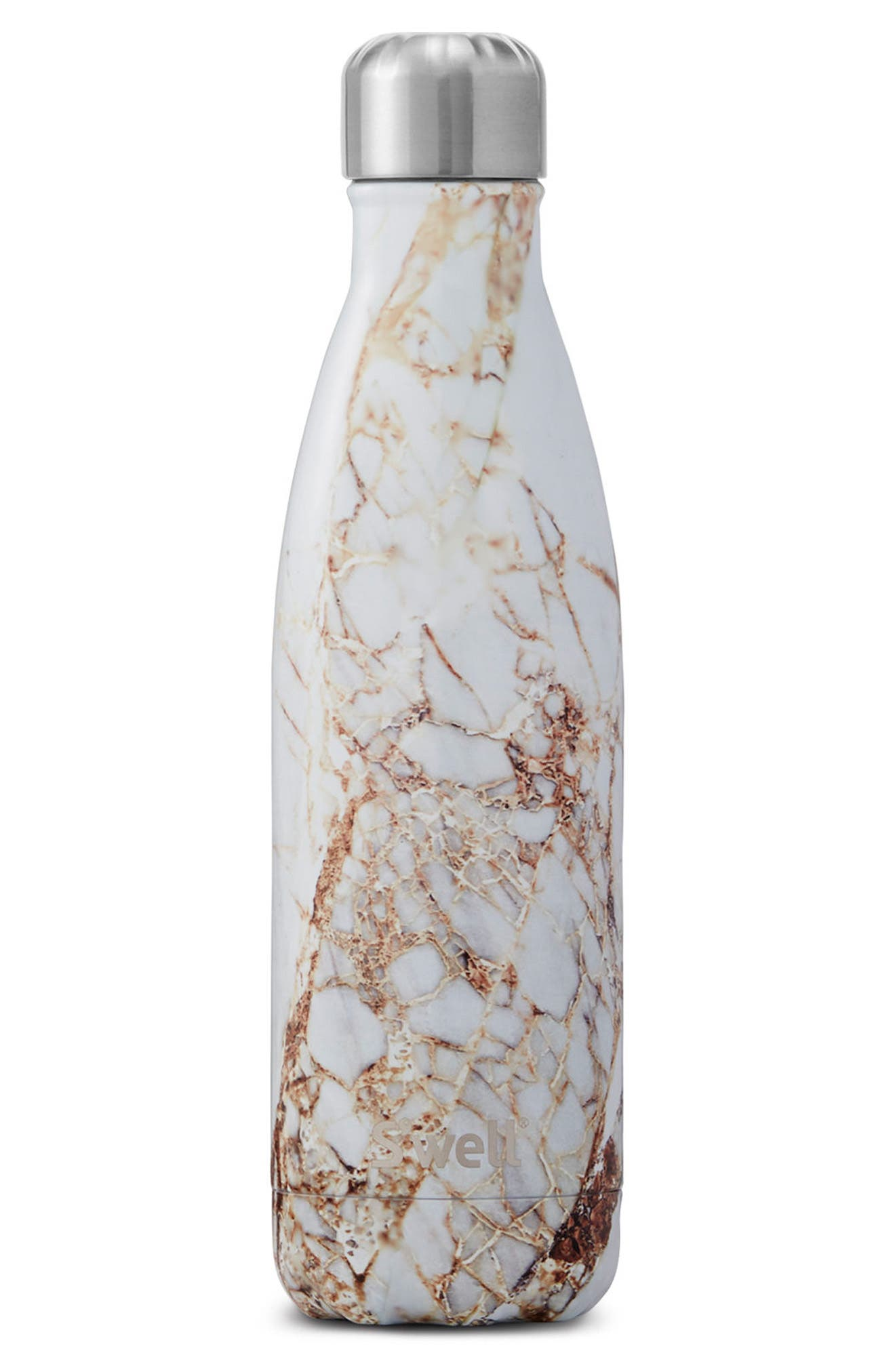Elements Collection - Calacatta Gold Insulated Stainless Steel Water Bottle,                         Main,                         color, Calacatta Gold