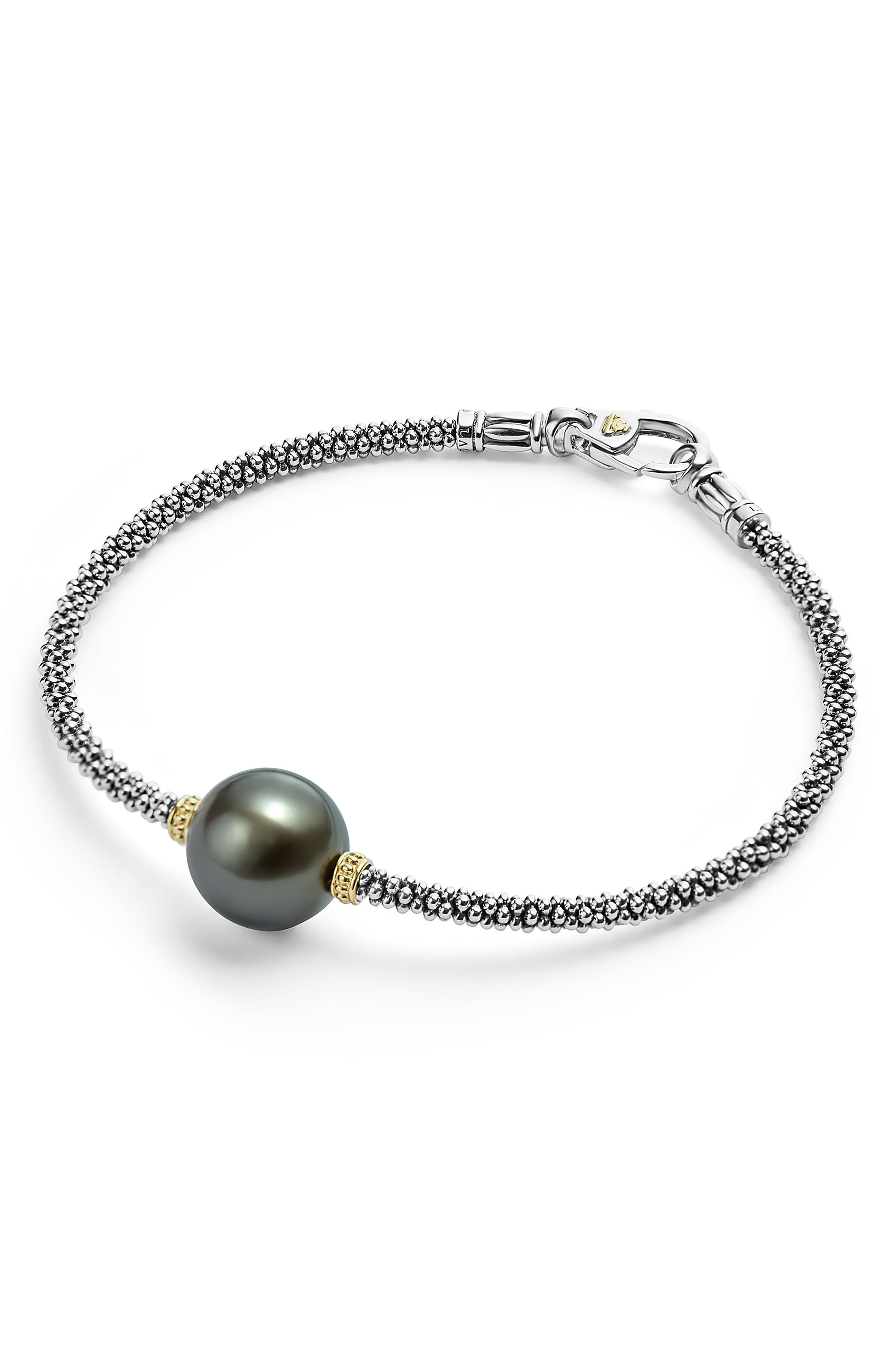 Alternate Image 2  - LAGOS Luna Pearl Single Station Bracelet