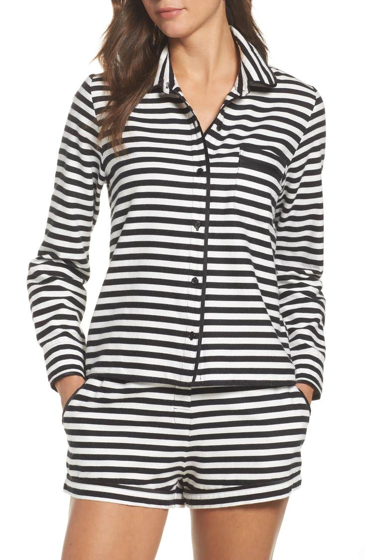 Cute striped kate spade pajamas