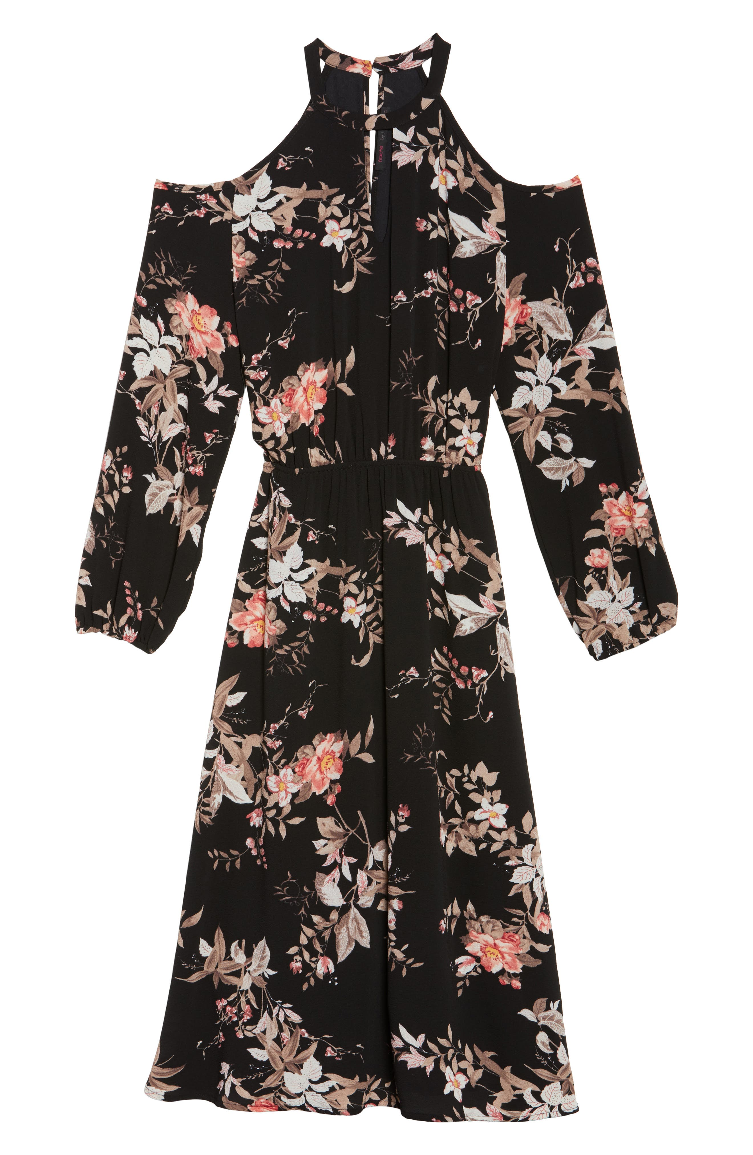Alternate Image 6  - Fraiche by J Cold Shoulder Midi Dress