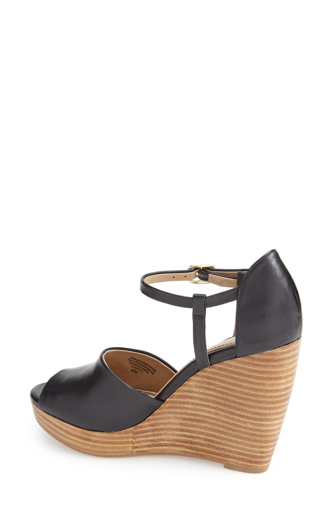 Alternate Image 2  - Splendid 'Davie' Leather Ankle Strap Wedge Sandal (Women)