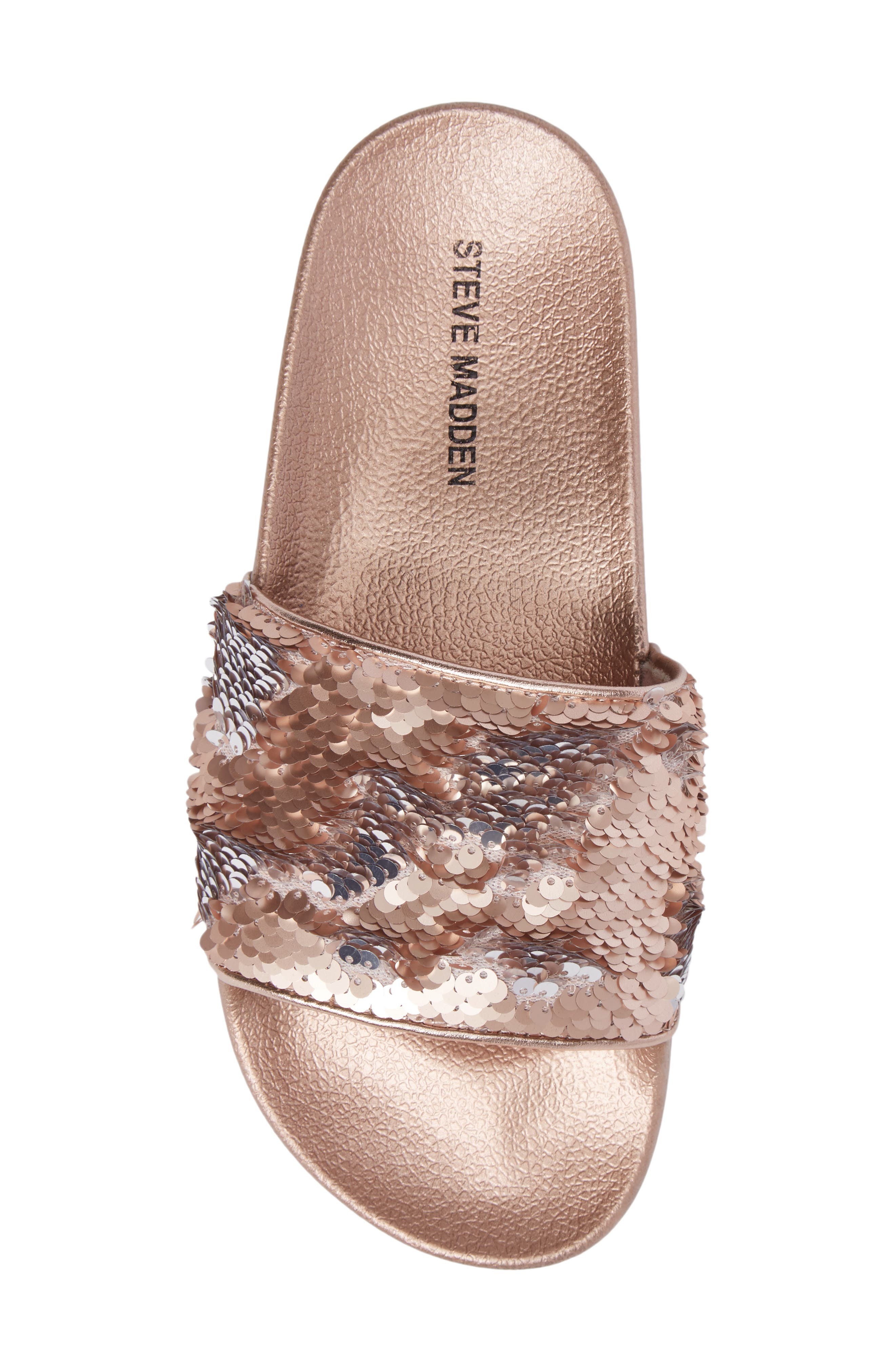 Alternate Image 5  - Steve Madden Softey Sequin Slide Sandal (Women)