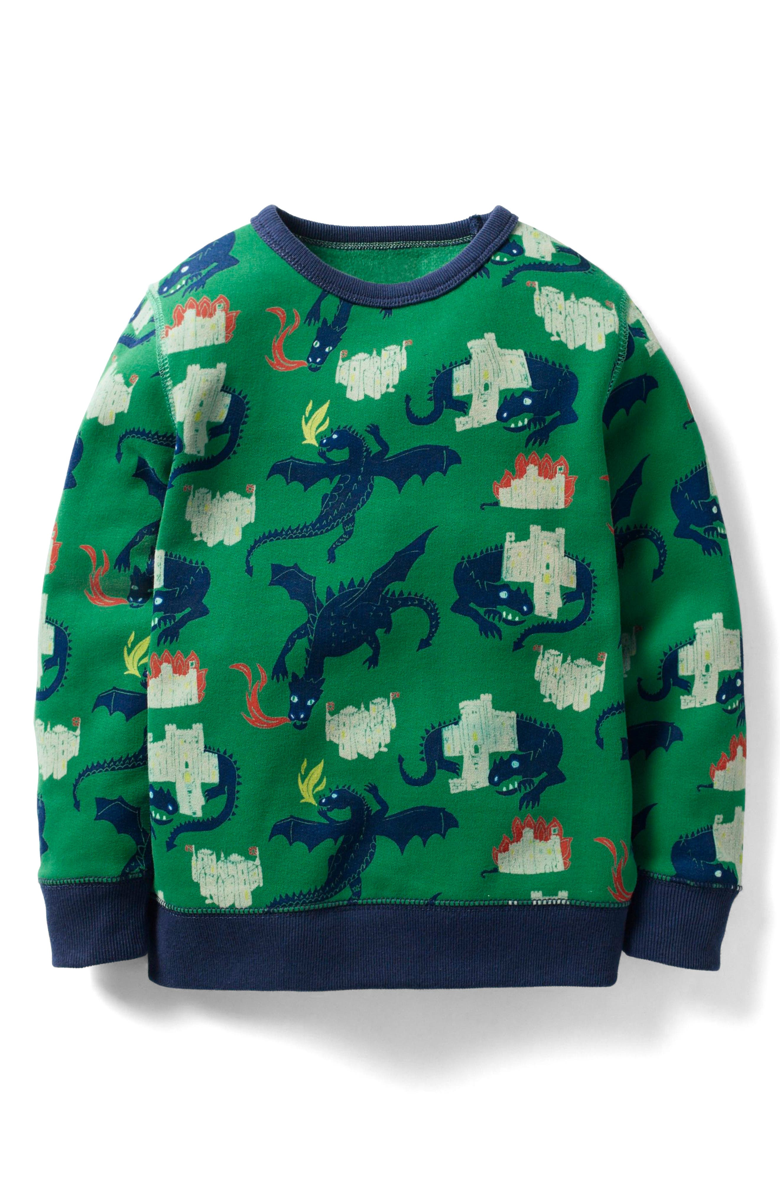 Hero's Tale Sweatshirt,                             Main thumbnail 1, color,                             Crocodile Green Dragons