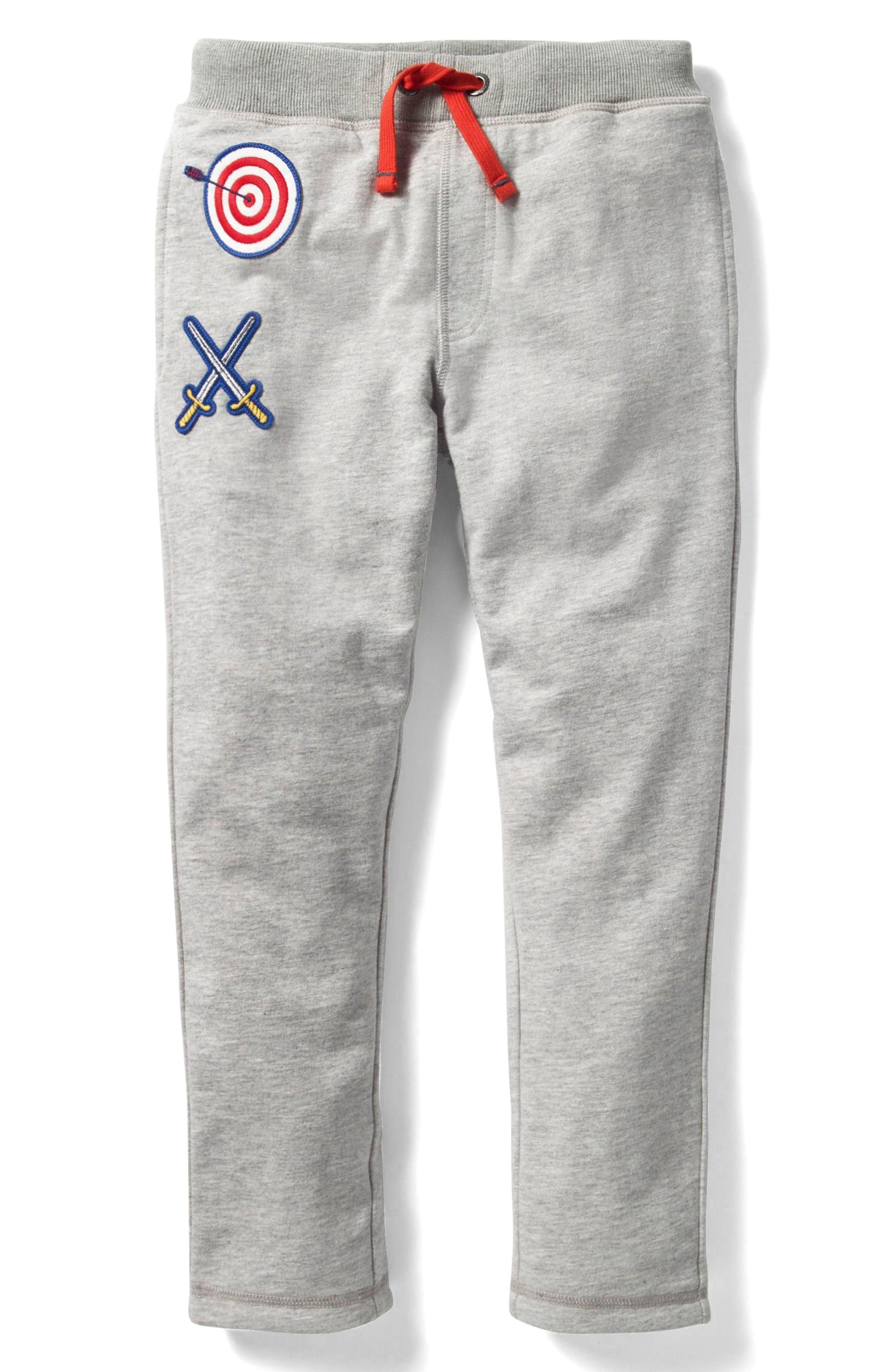 Mini Boden Lined Appliqué Sweatpants (Toddler Boys, Little Boys & Big Boys)