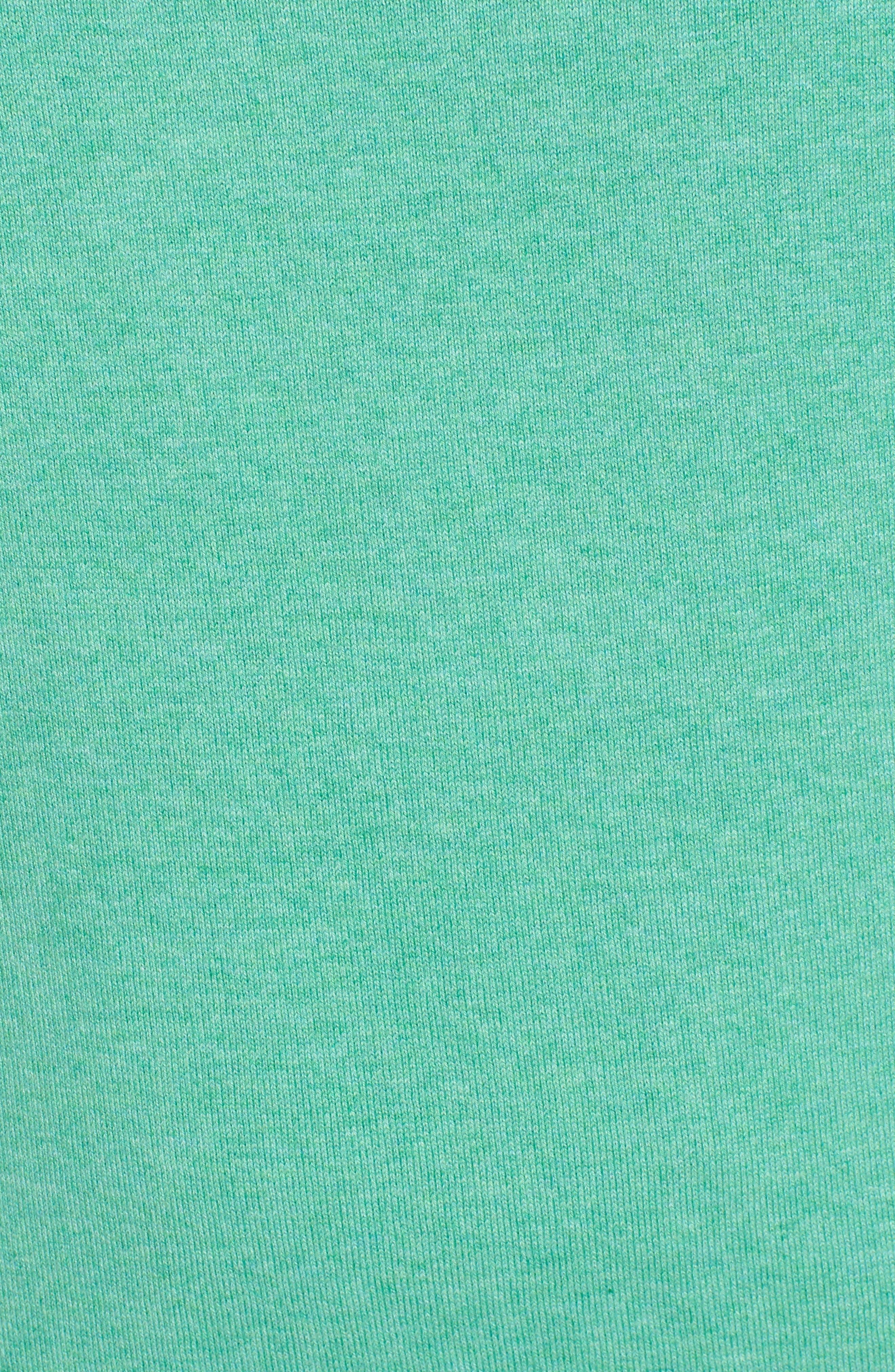 Marina Cay Quarter Zip Pullover,                             Alternate thumbnail 5, color,                             Tropical Palm Green