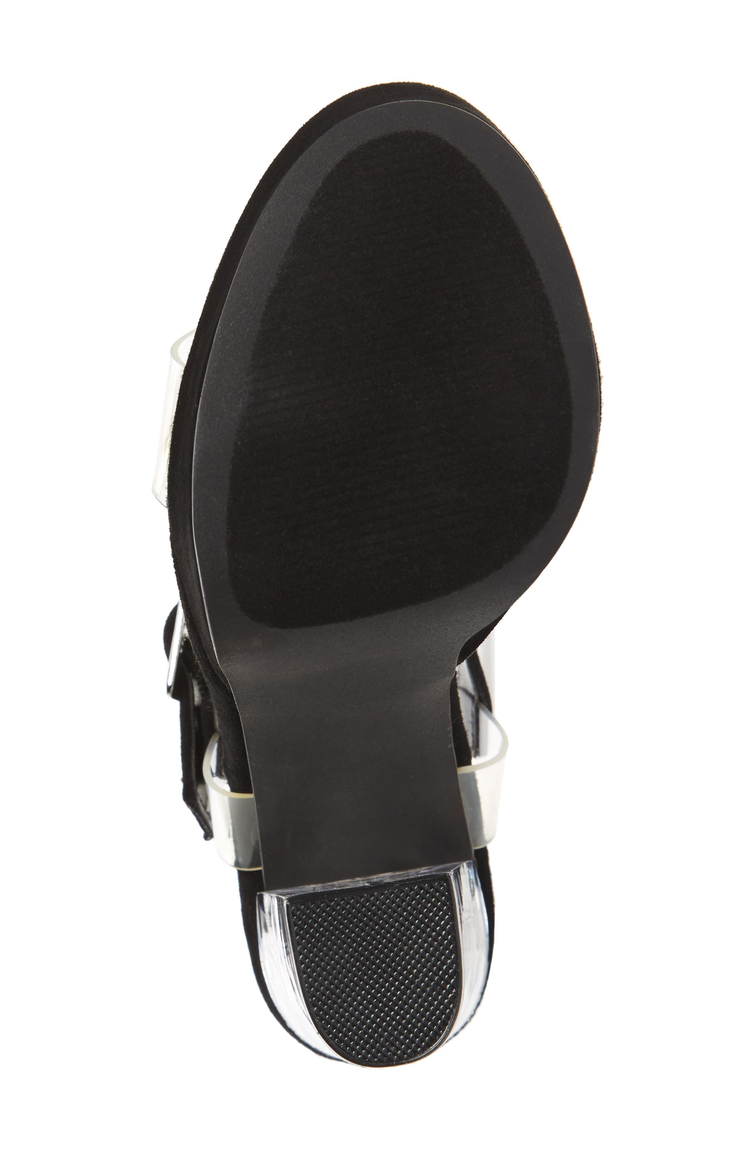 Glimmer Sandal,                             Alternate thumbnail 6, color,                             Black Suede