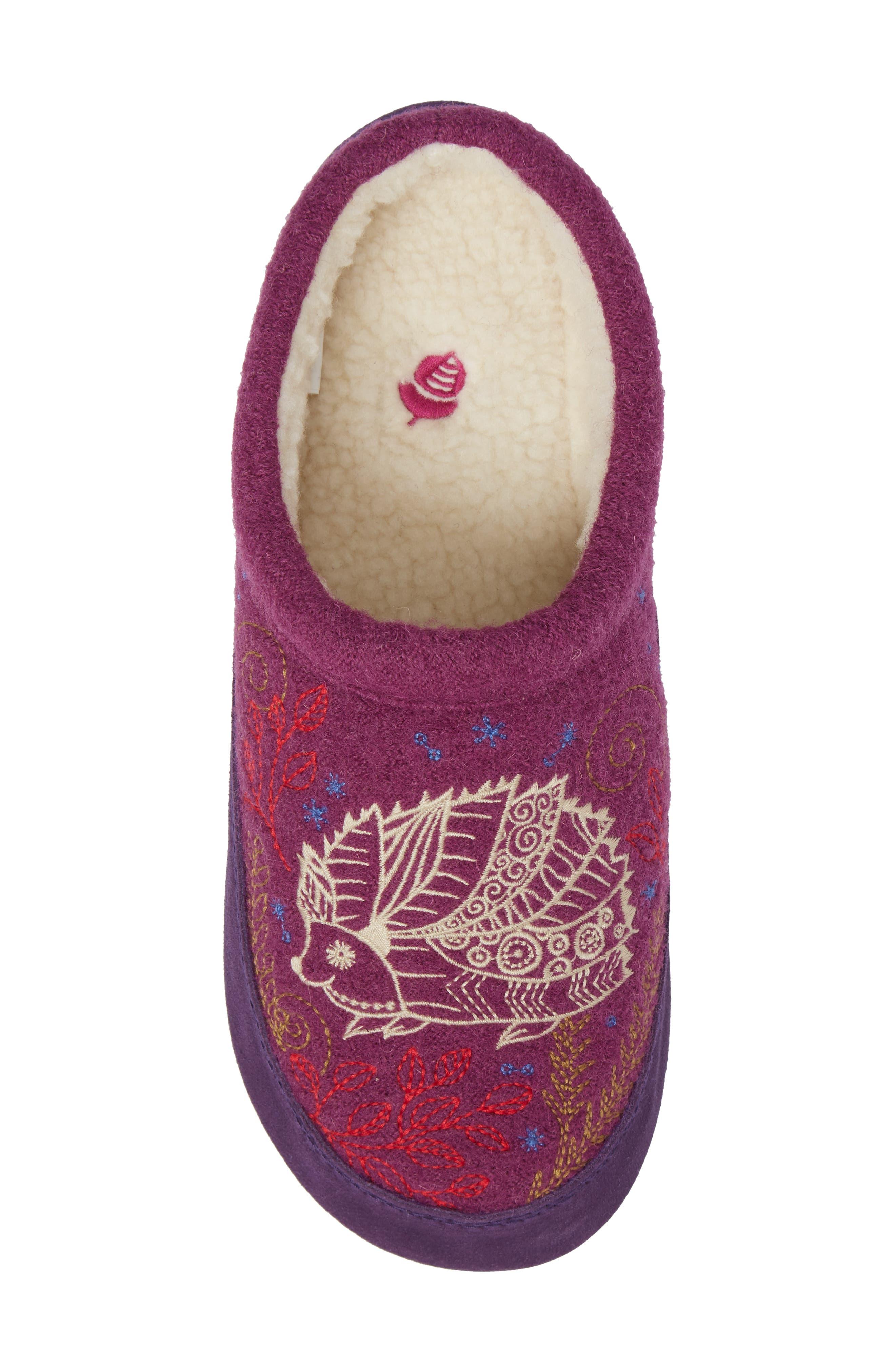 Alternate Image 5  - Acorn 'Forest' Wool Mule Slipper (Women)