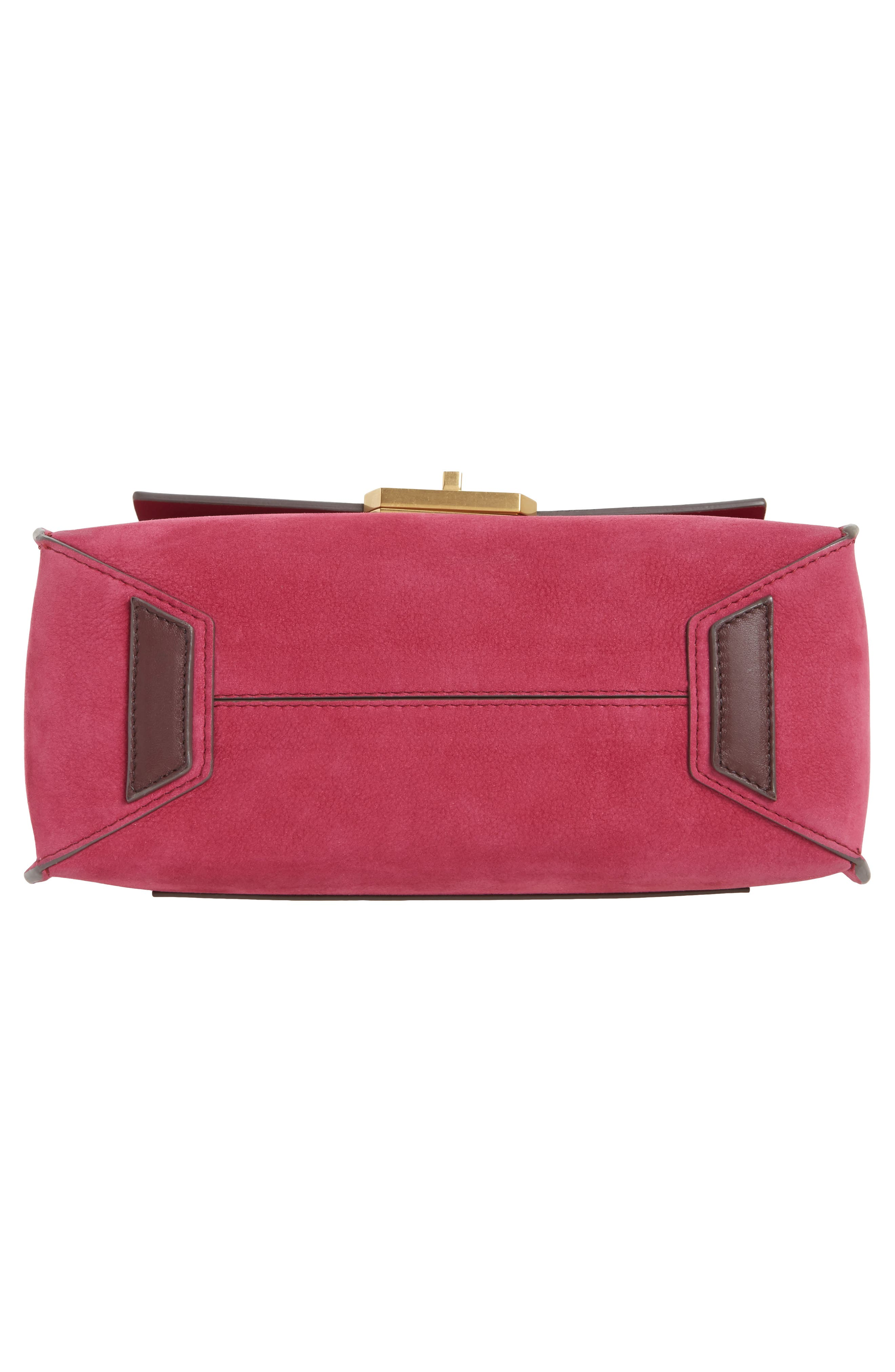 Extra Small Bathhurst Heart Leather Shoulder Bag,                             Alternate thumbnail 6, color,                             Raspberry