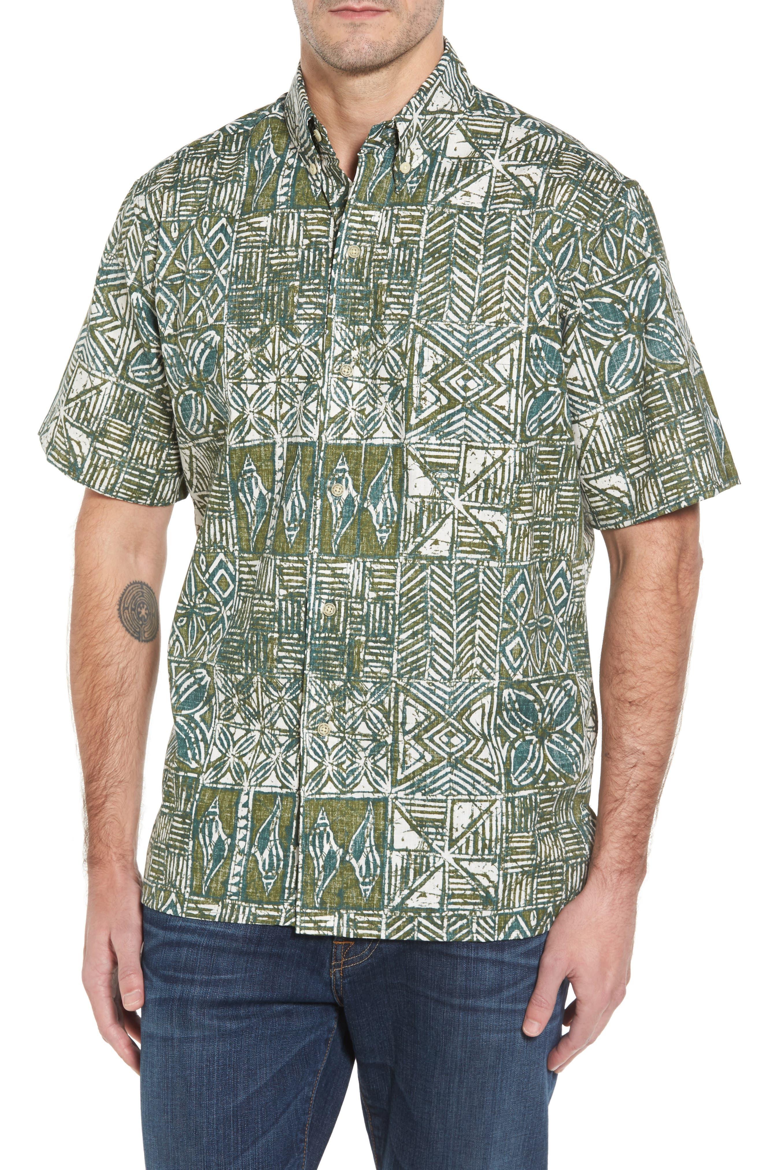 Main Image - Reyn Spooner Leho Kapa Classic Fit Sport Shirt