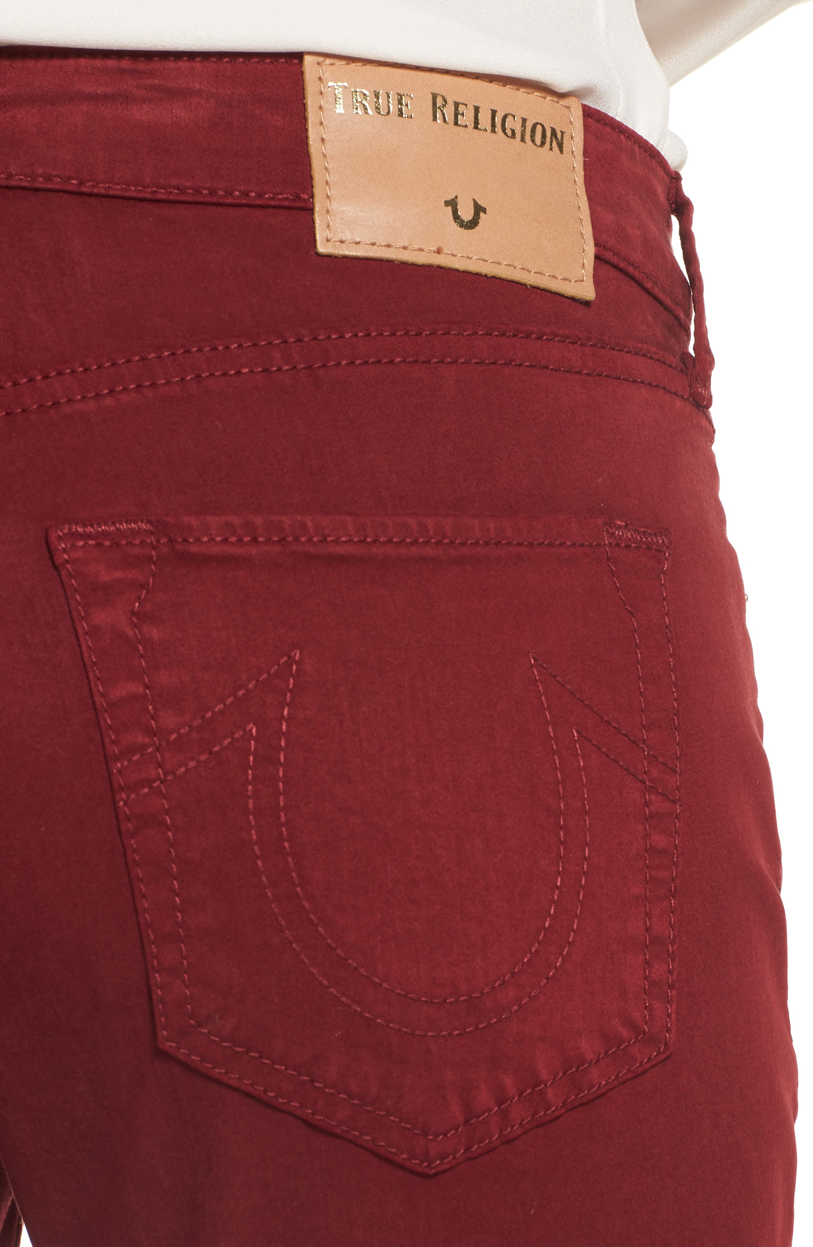 Jennie Curvy Skinny Jeans,                             Alternate thumbnail 4, color,                             Ox Blood