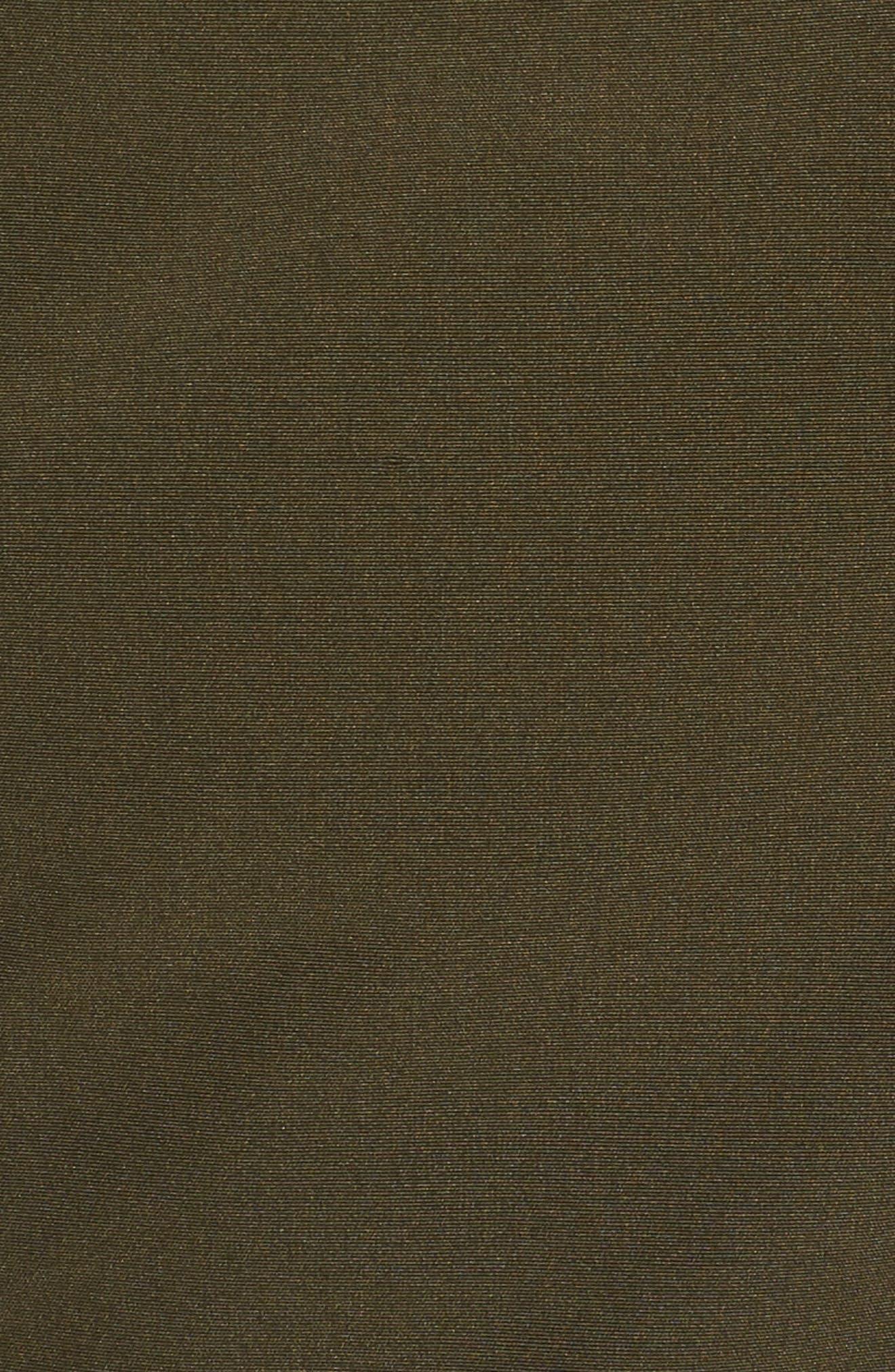 Bib Insert Down & Feather Fill Coat,                             Alternate thumbnail 5, color,                             Olive