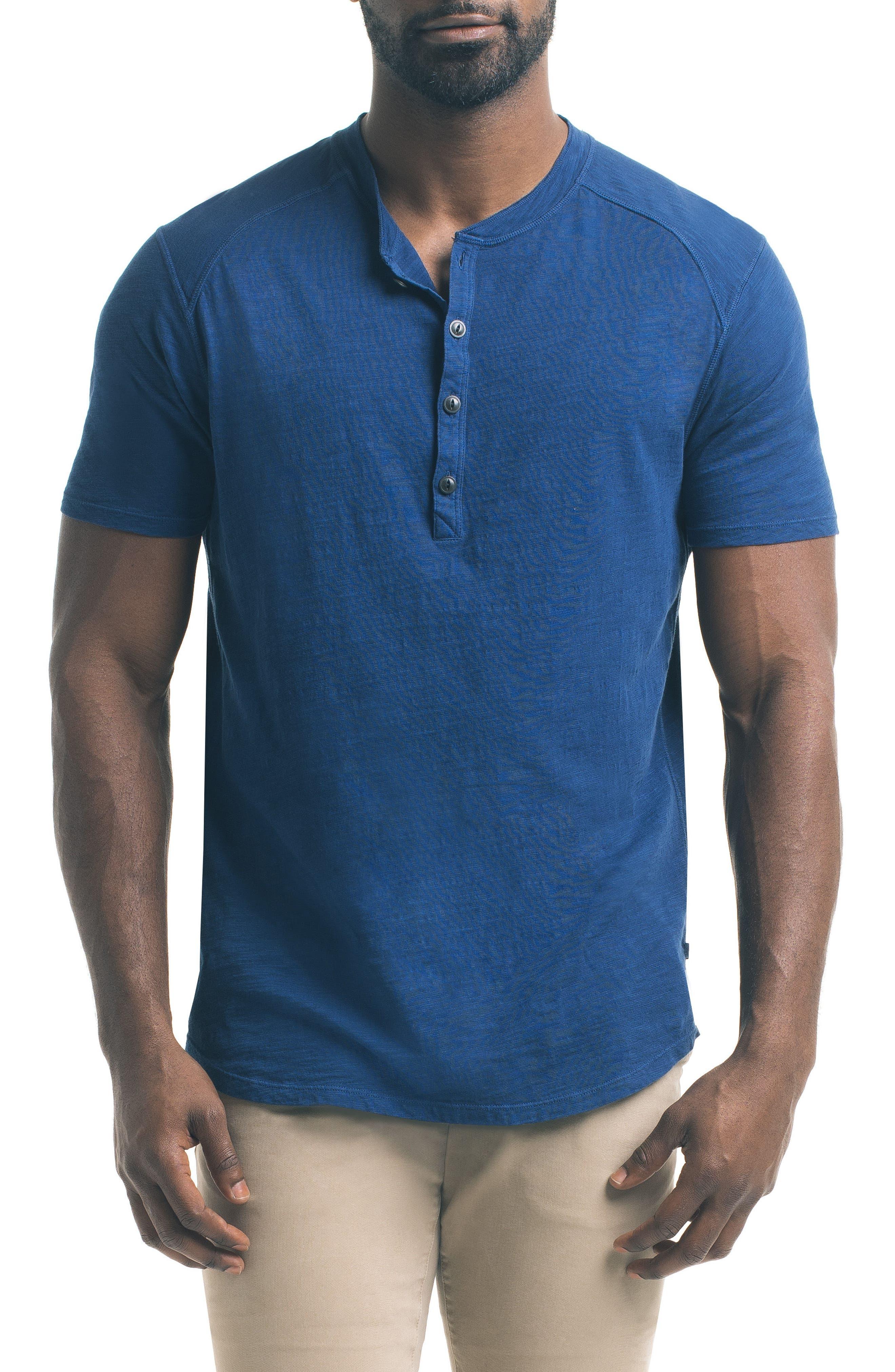 Main Image - Good Man Brand Short Sleeve Slub Henley