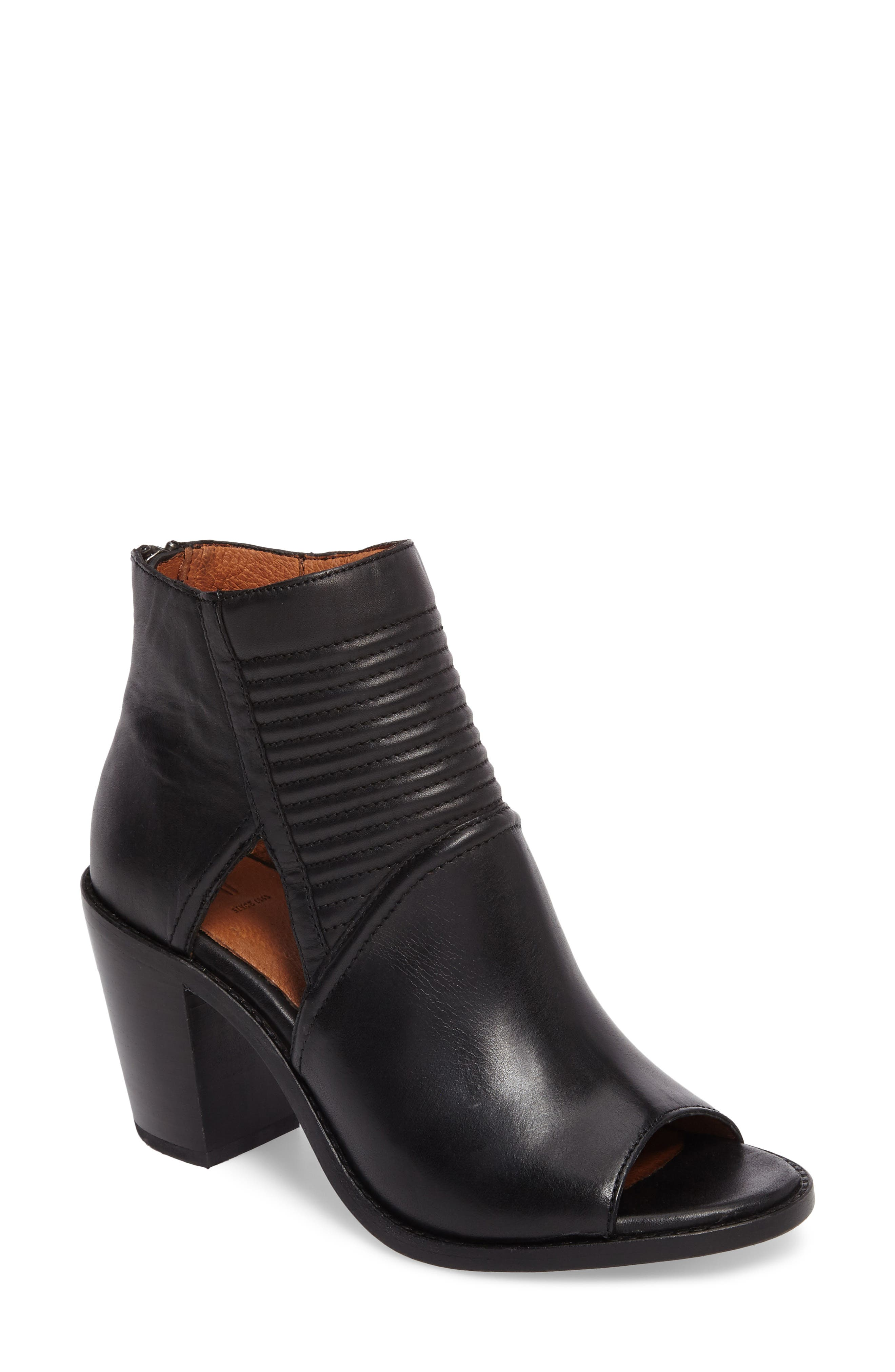 Main Image - Frye Bailey Quilted Peep Toe Bootie (Women)