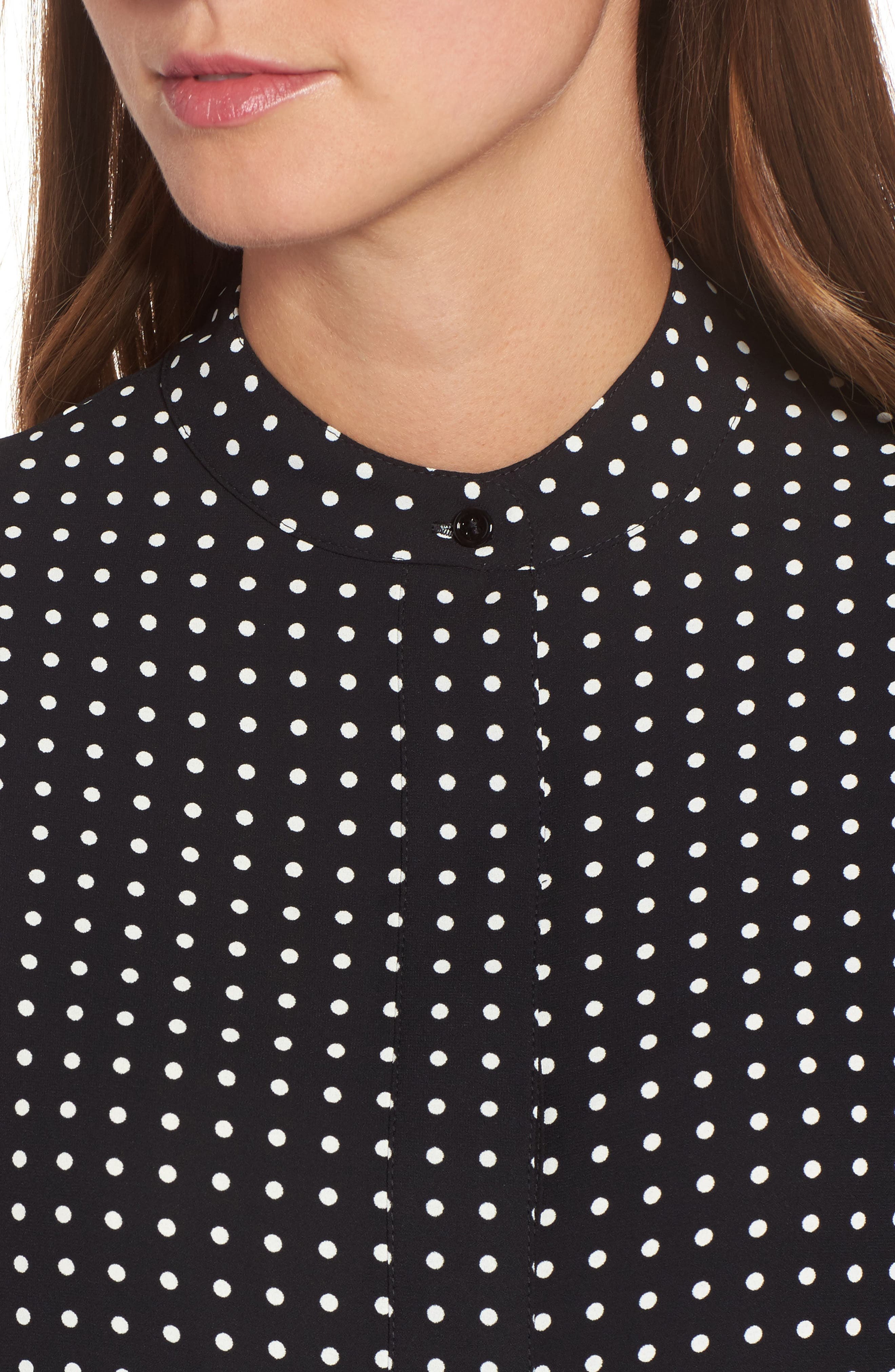 Alternate Image 4  - Anne Klein Mixed Dot Print Blouse