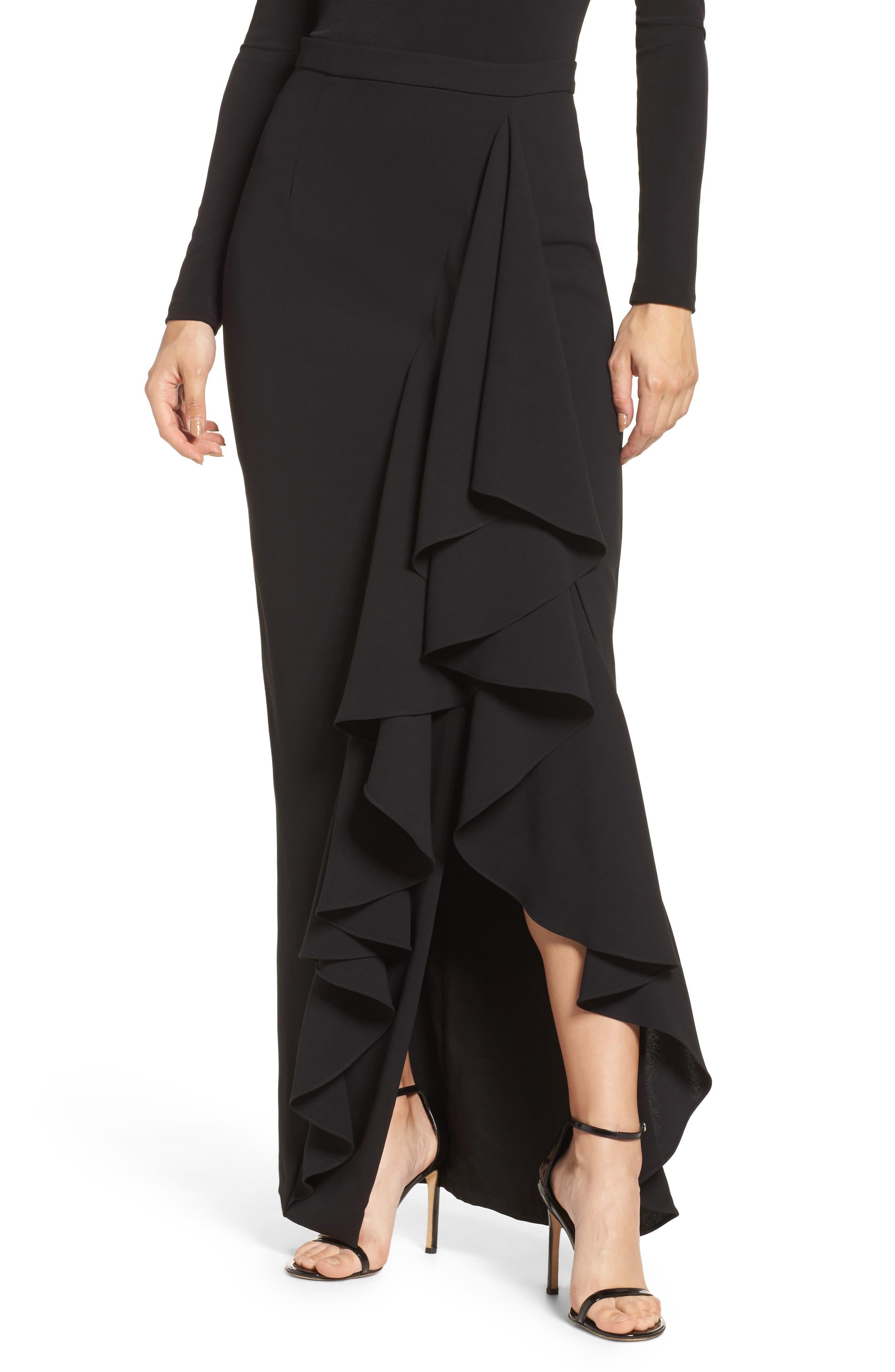 Eliza J Ruffle Side Maxi Skirt