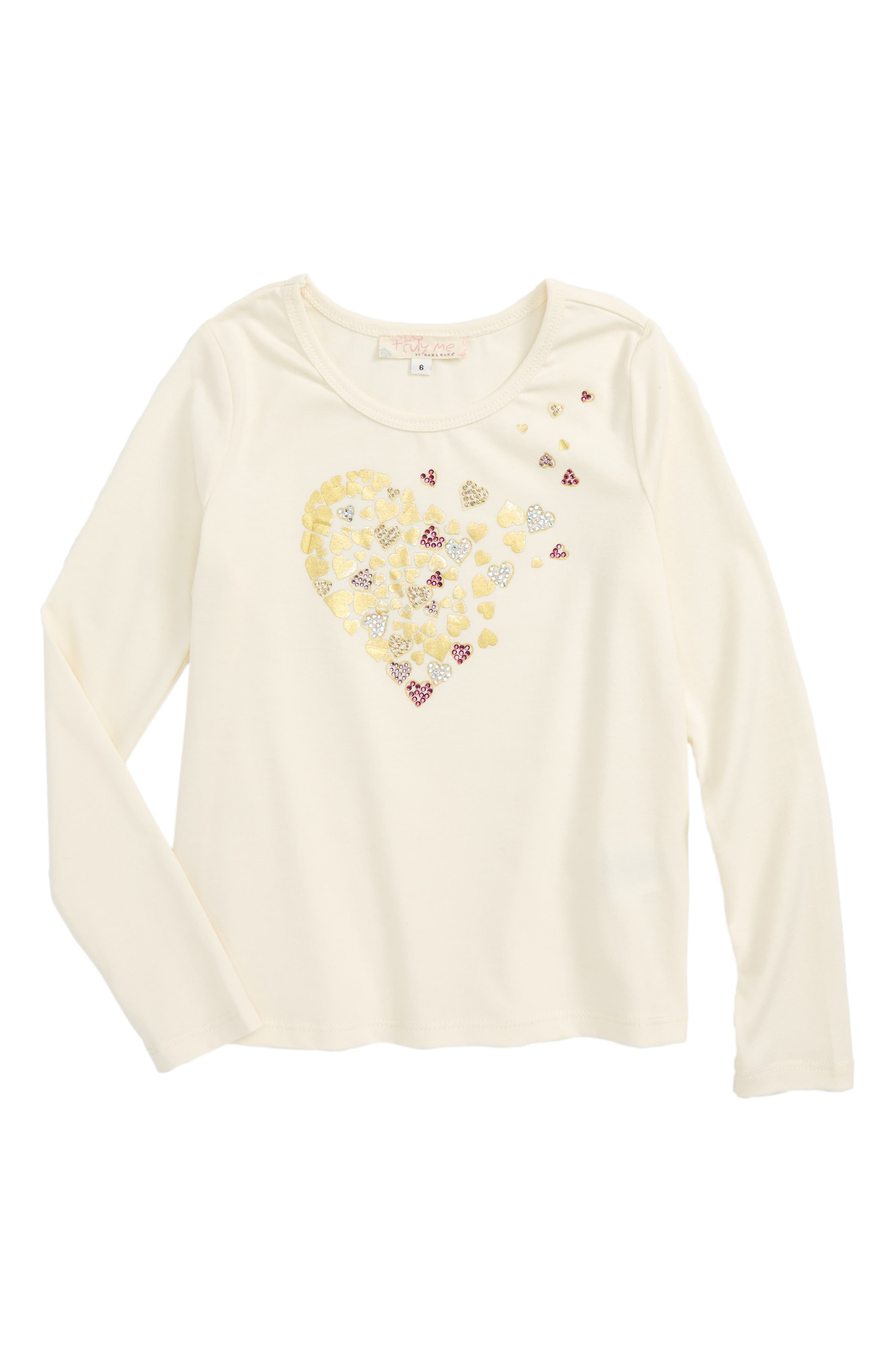 Alternate Image 1 Selected - Truly Me Heart Graphic Tee (Toddler Girls & Little Girls)