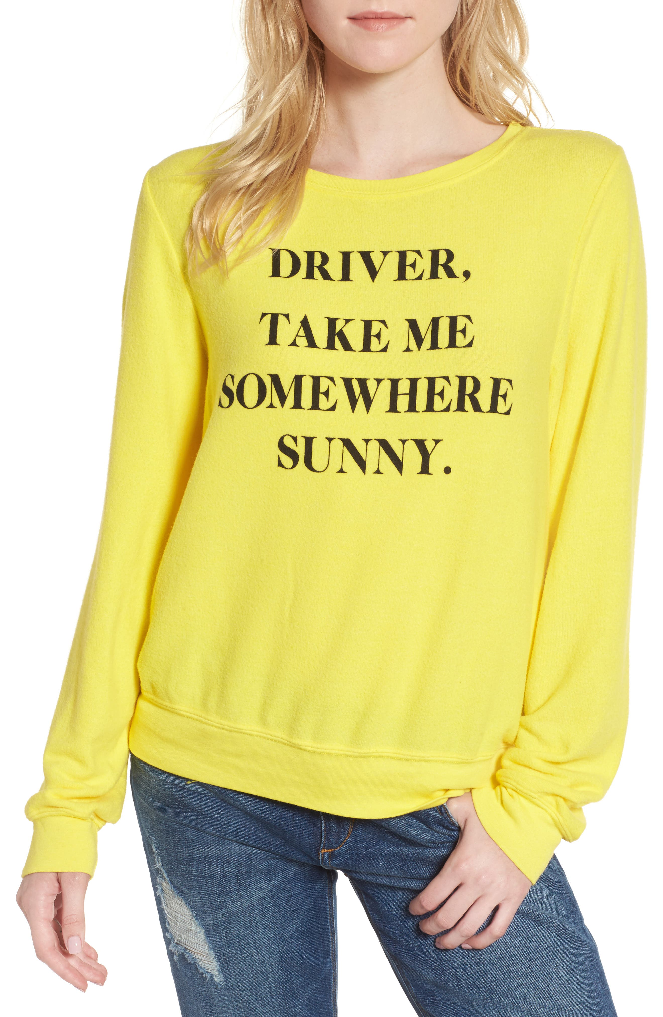 Alternate Image 1 Selected - Wildfox 'Somewhere Sunny' Sweatshirt