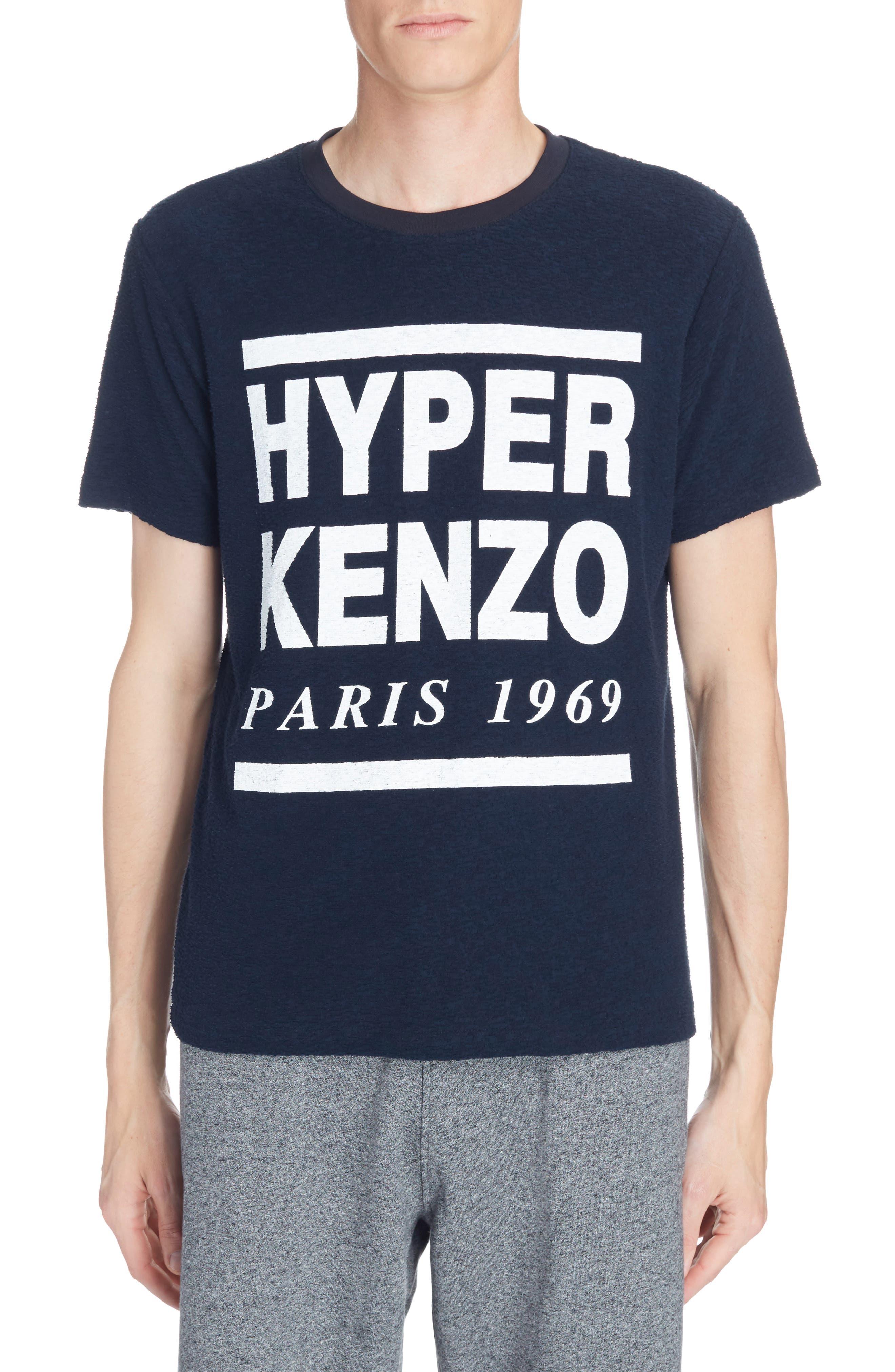 Hyper Kenzo Logo T-Shirt,                         Main,                         color, Ink