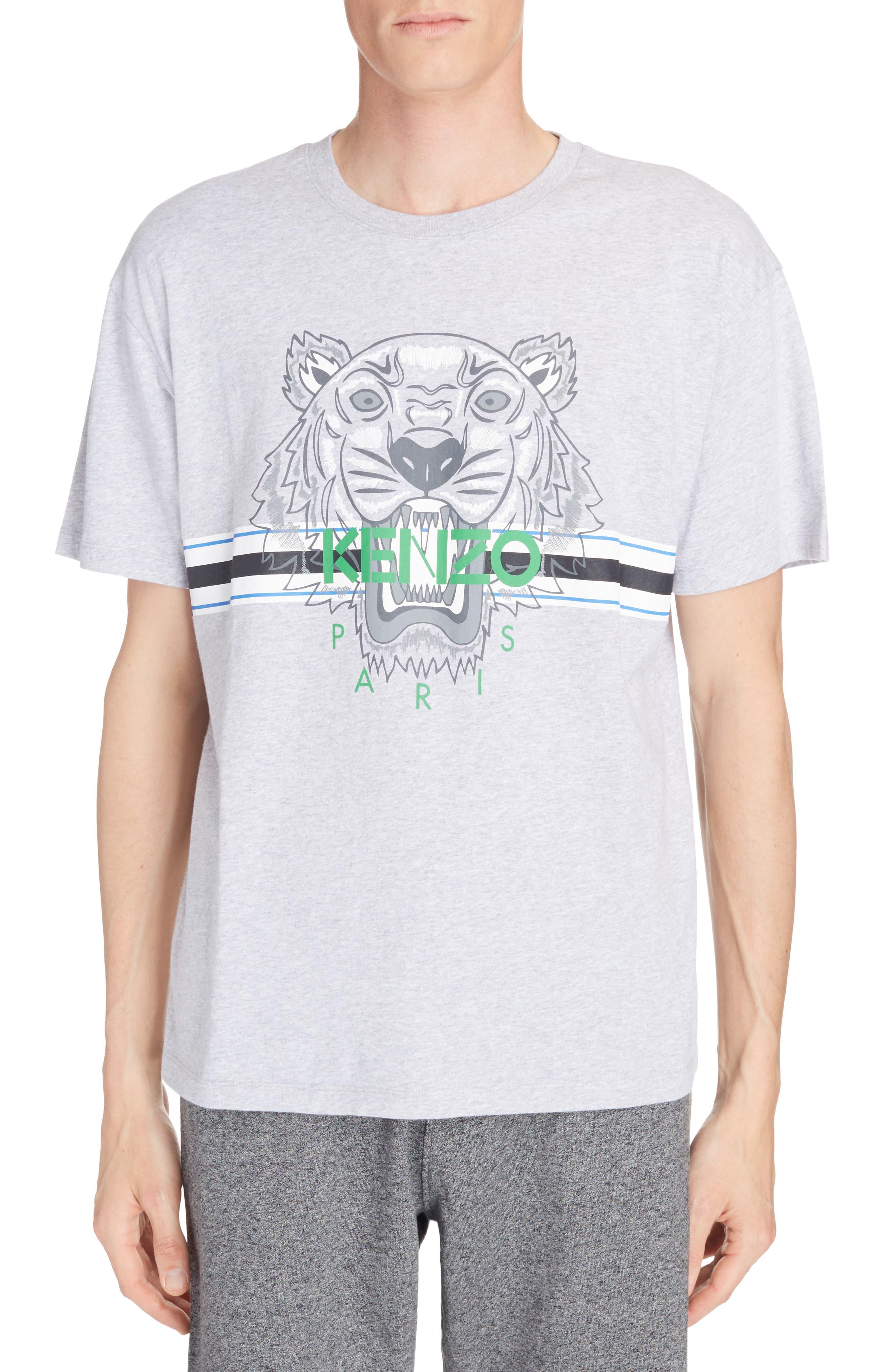 KENZO Tiger Stripe Graphic T-Shirt