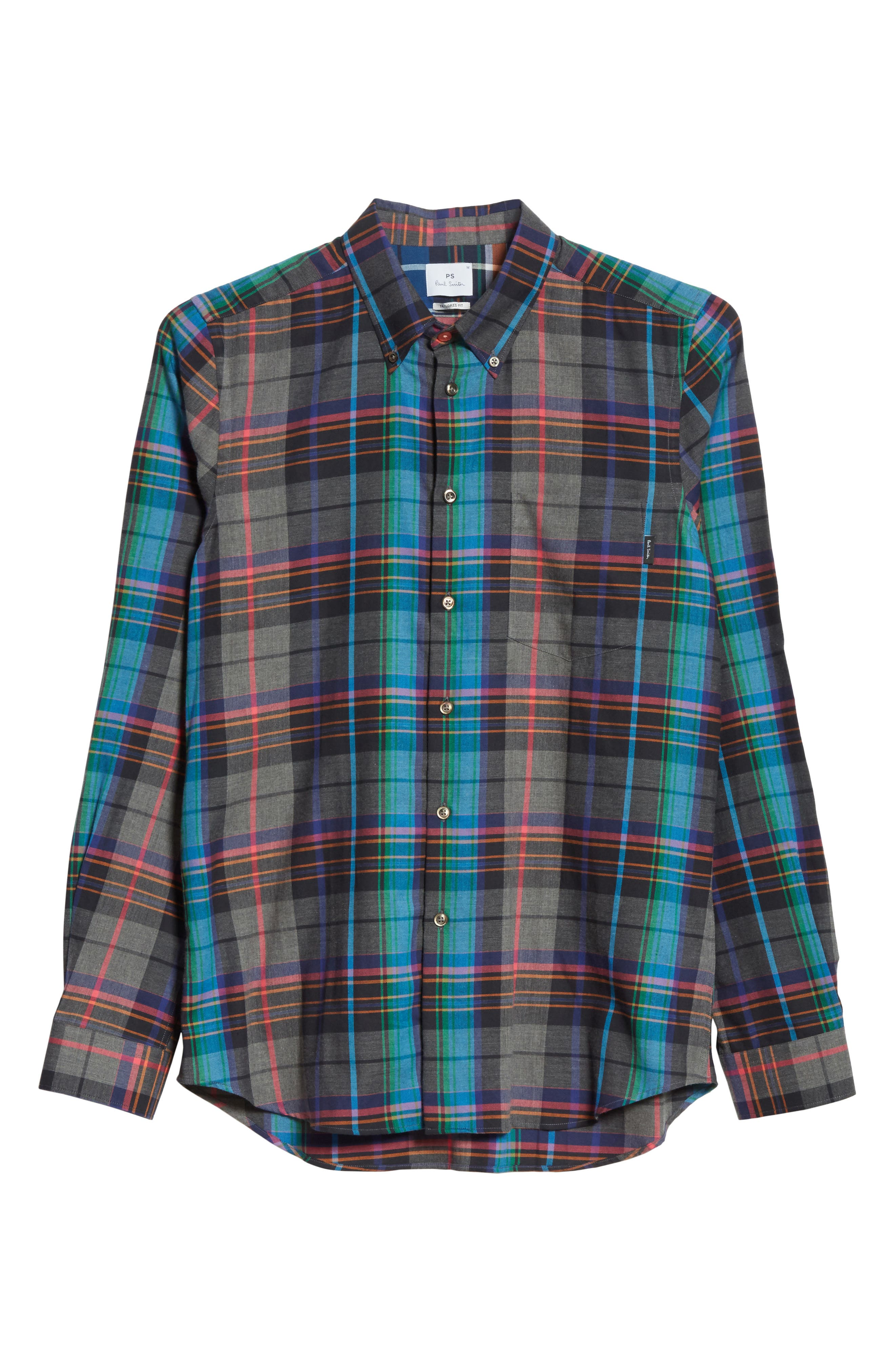 Alternate Image 6  - PS Paul Smith Plaid Woven Shirt