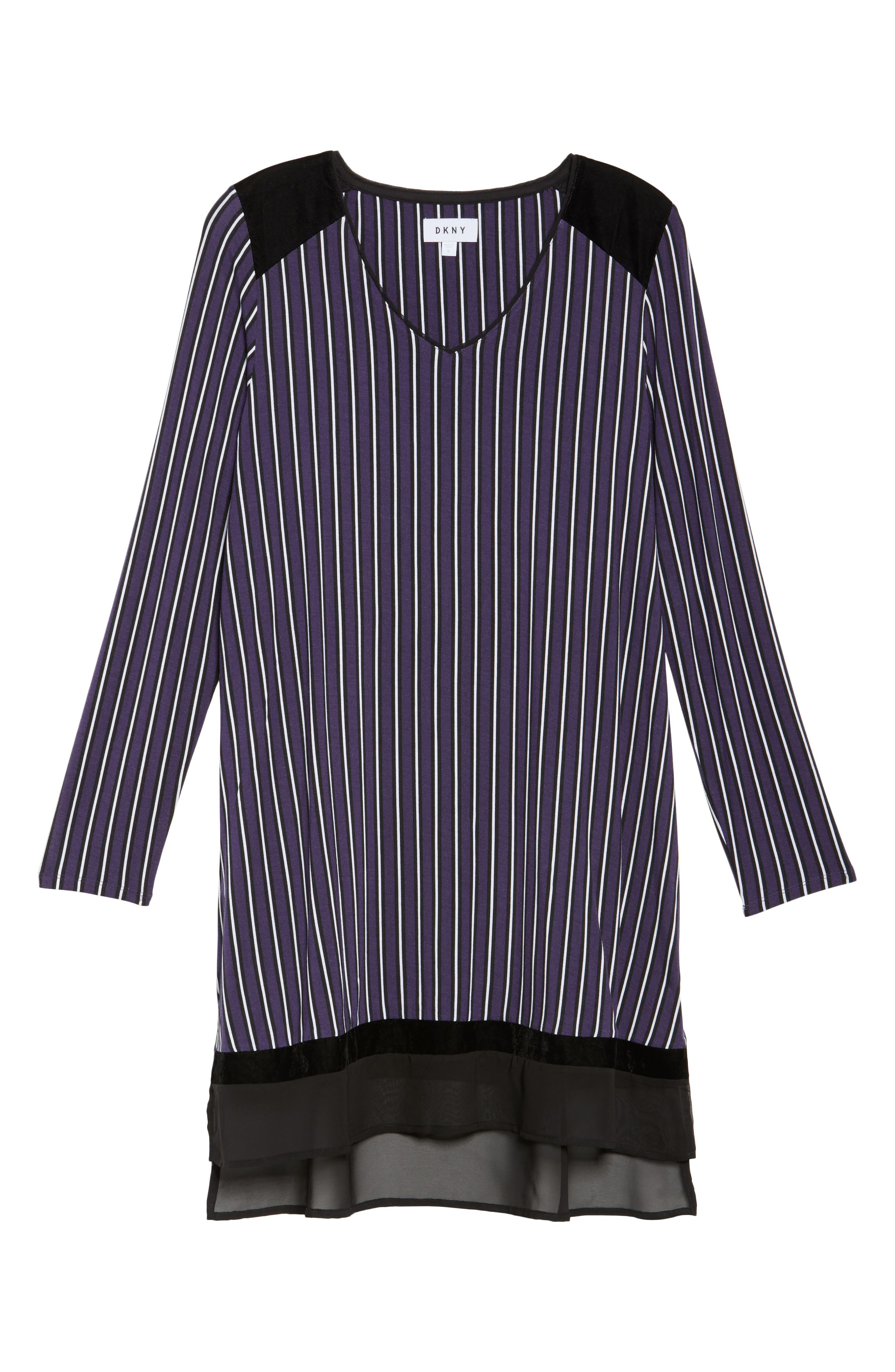 Alternate Image 4  - DKNY Stripe Jersey Sleep Shirt