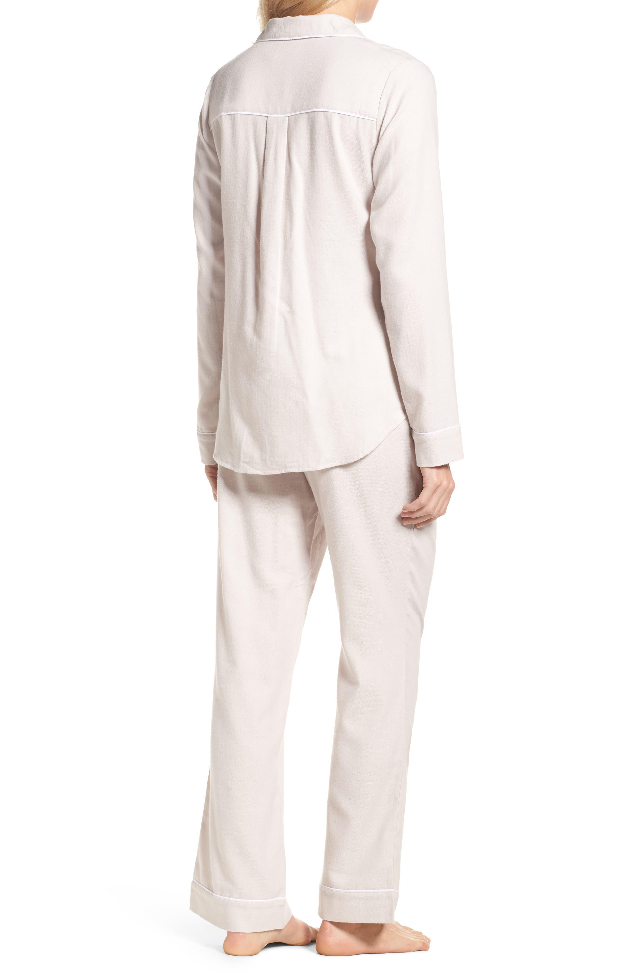 Raven Herringbone Pajamas,                             Alternate thumbnail 2, color,                             Ivory