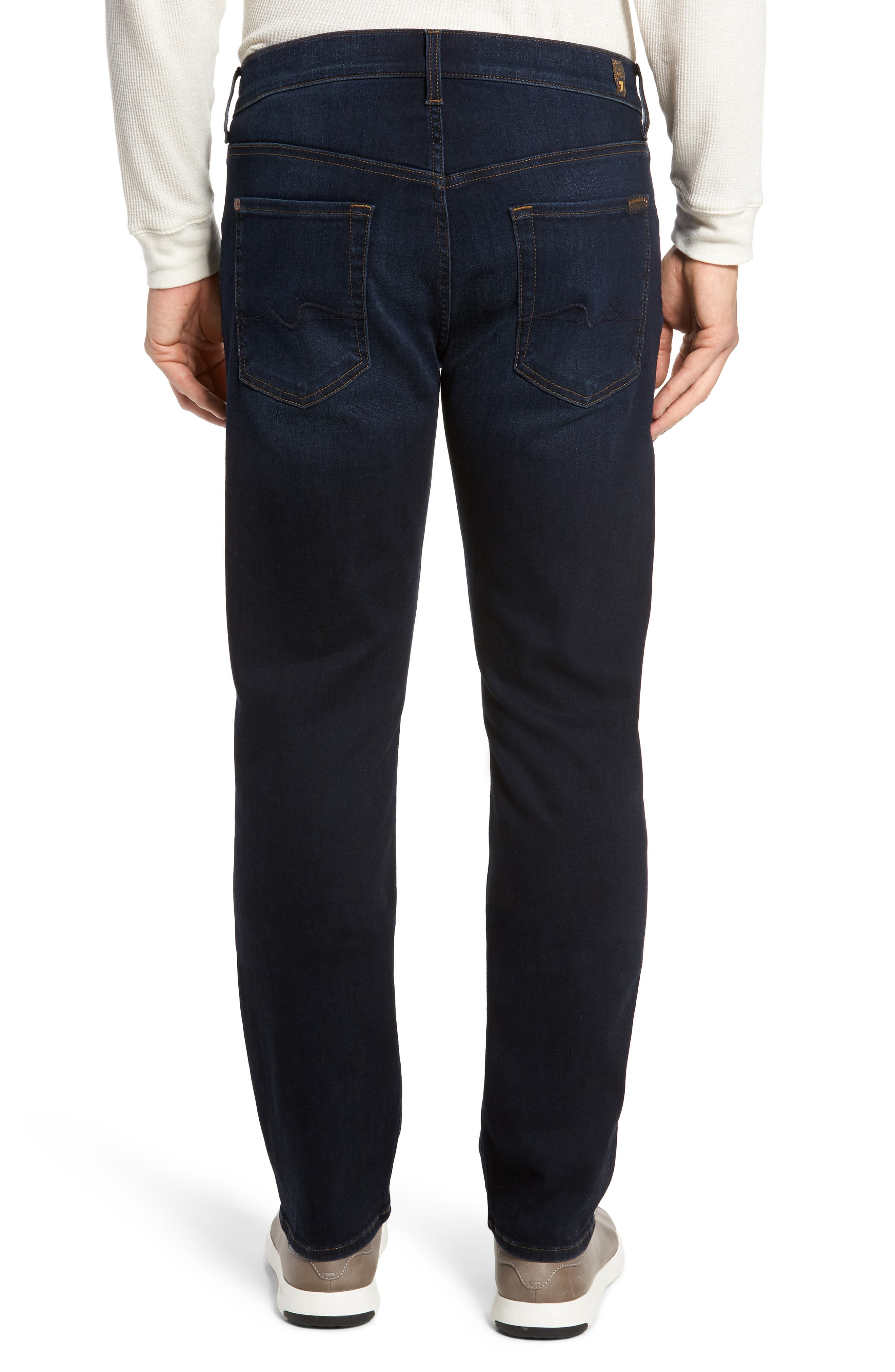 Standard Straight Fit Jeans,                             Alternate thumbnail 2, color,                             Albany