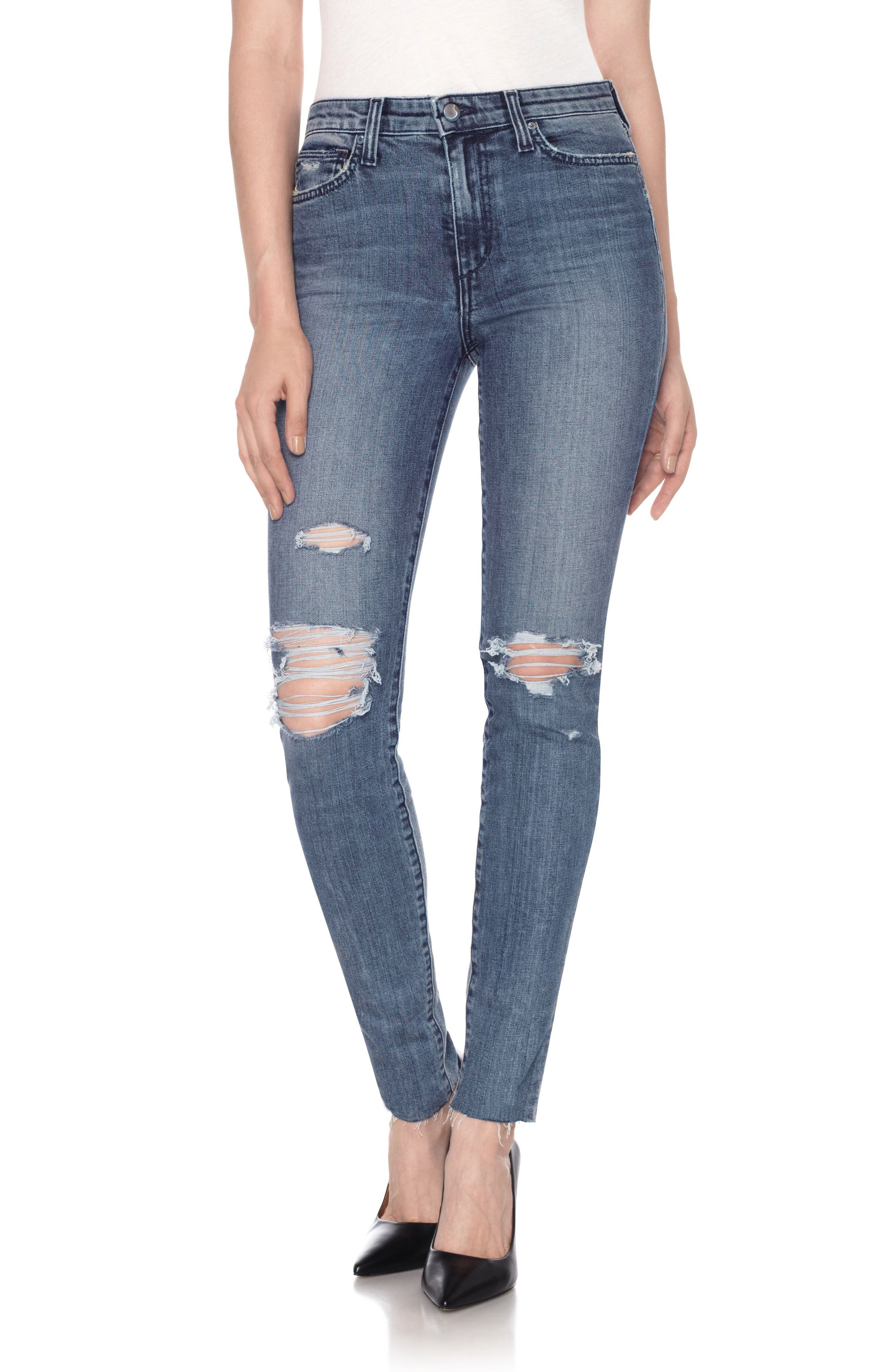 Alternate Image 1 Selected - Joe's Charlie High Waist Skinny Jeans (Shanti)