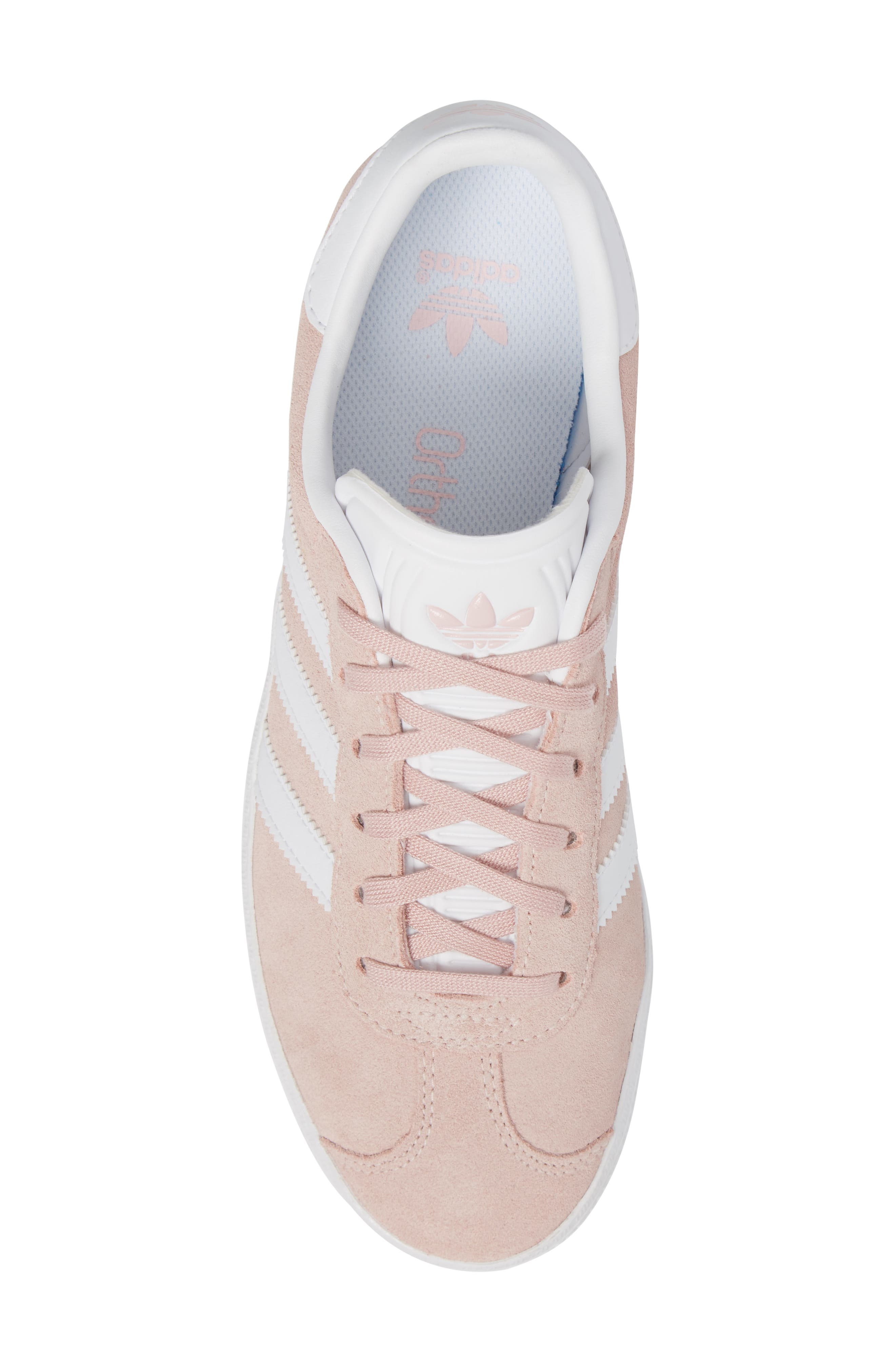 Gazelle Sneaker,                             Alternate thumbnail 5, color,                             Icy Pink/ White/ Gold