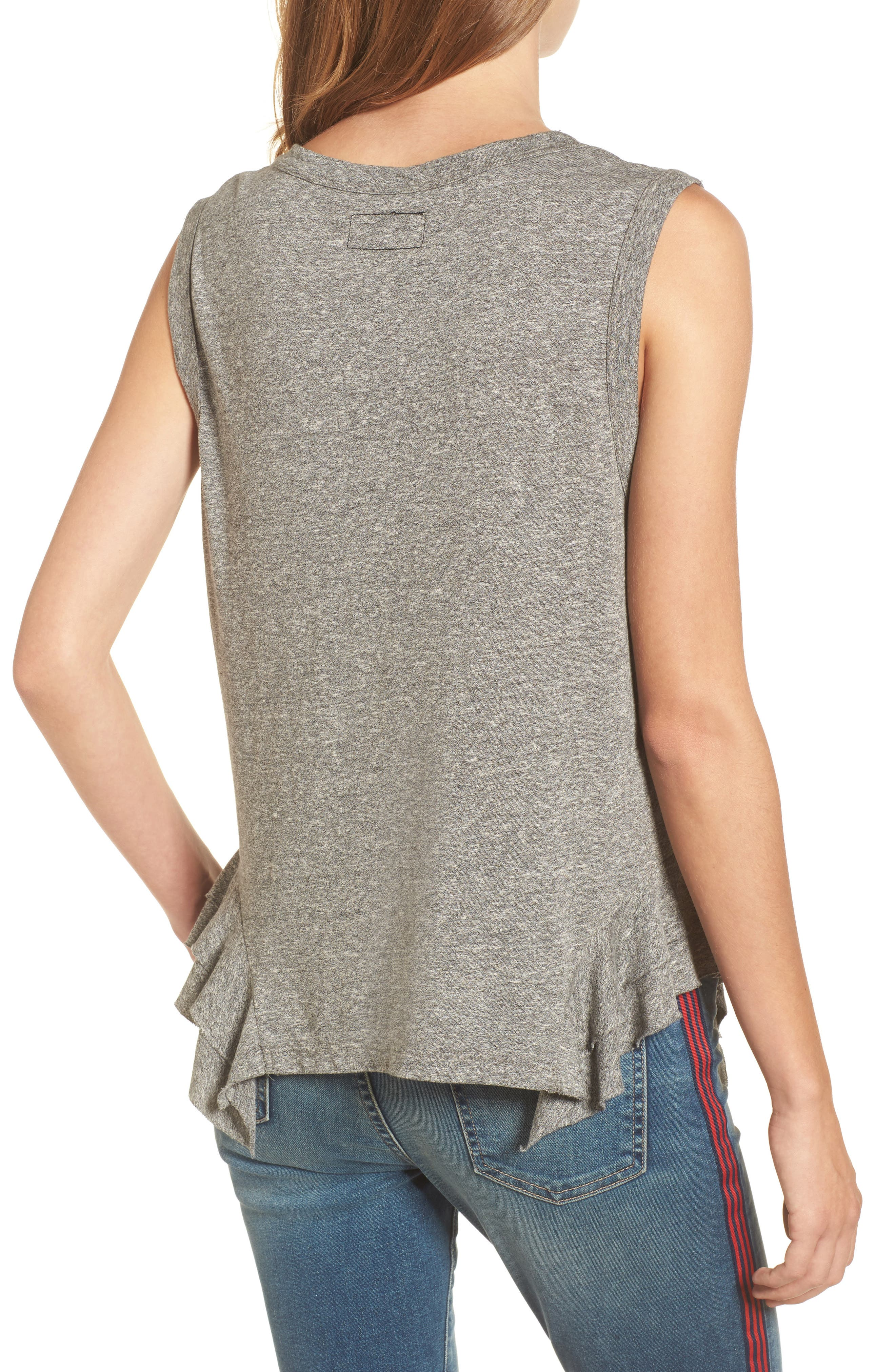 The Tier Muscle Tank,                             Alternate thumbnail 2, color,                             Heather Grey Jersey