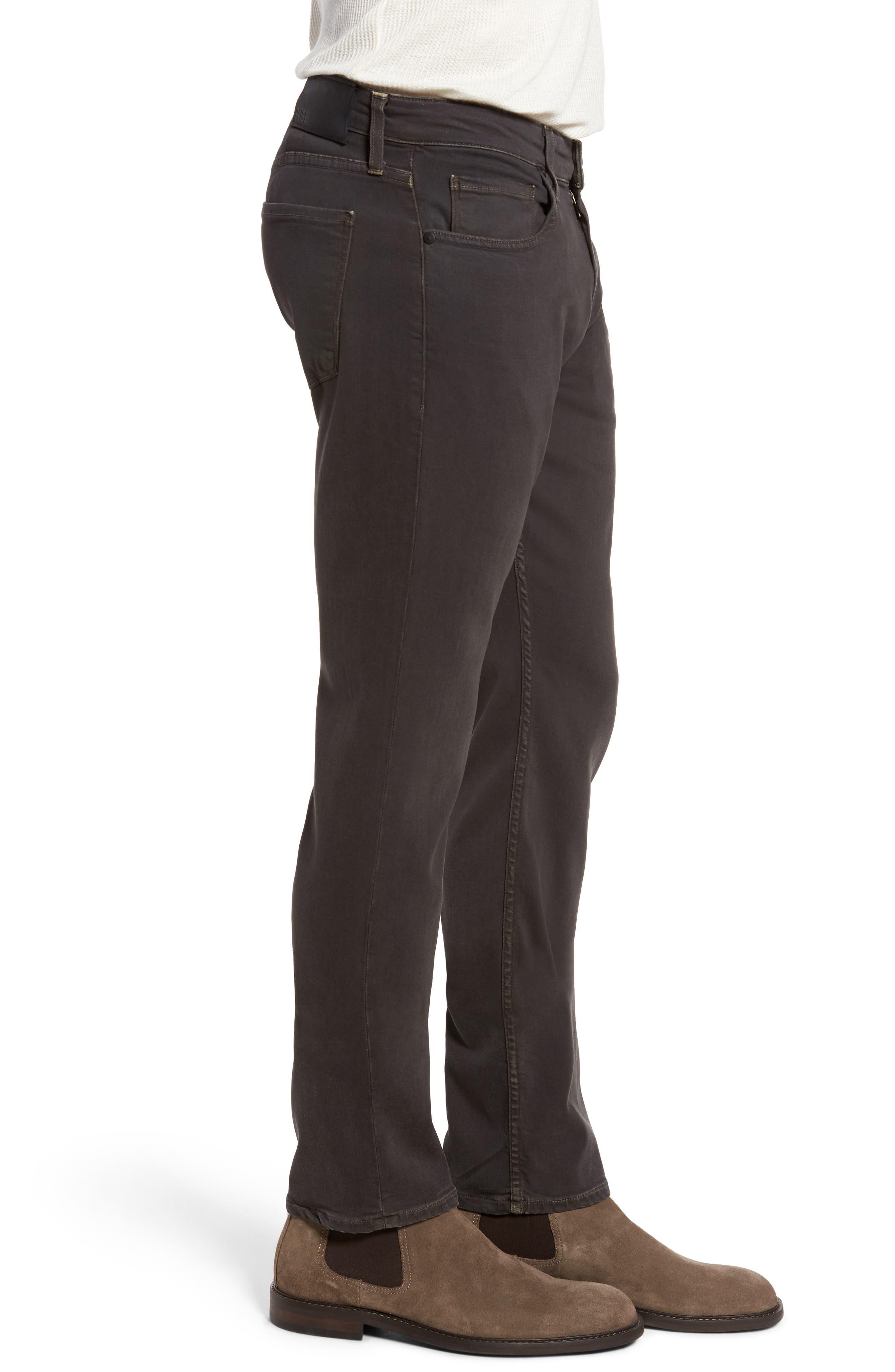 Transcend - Federal Slim Straight Leg Jeans,                             Alternate thumbnail 3, color,                             Vintage Black Fade