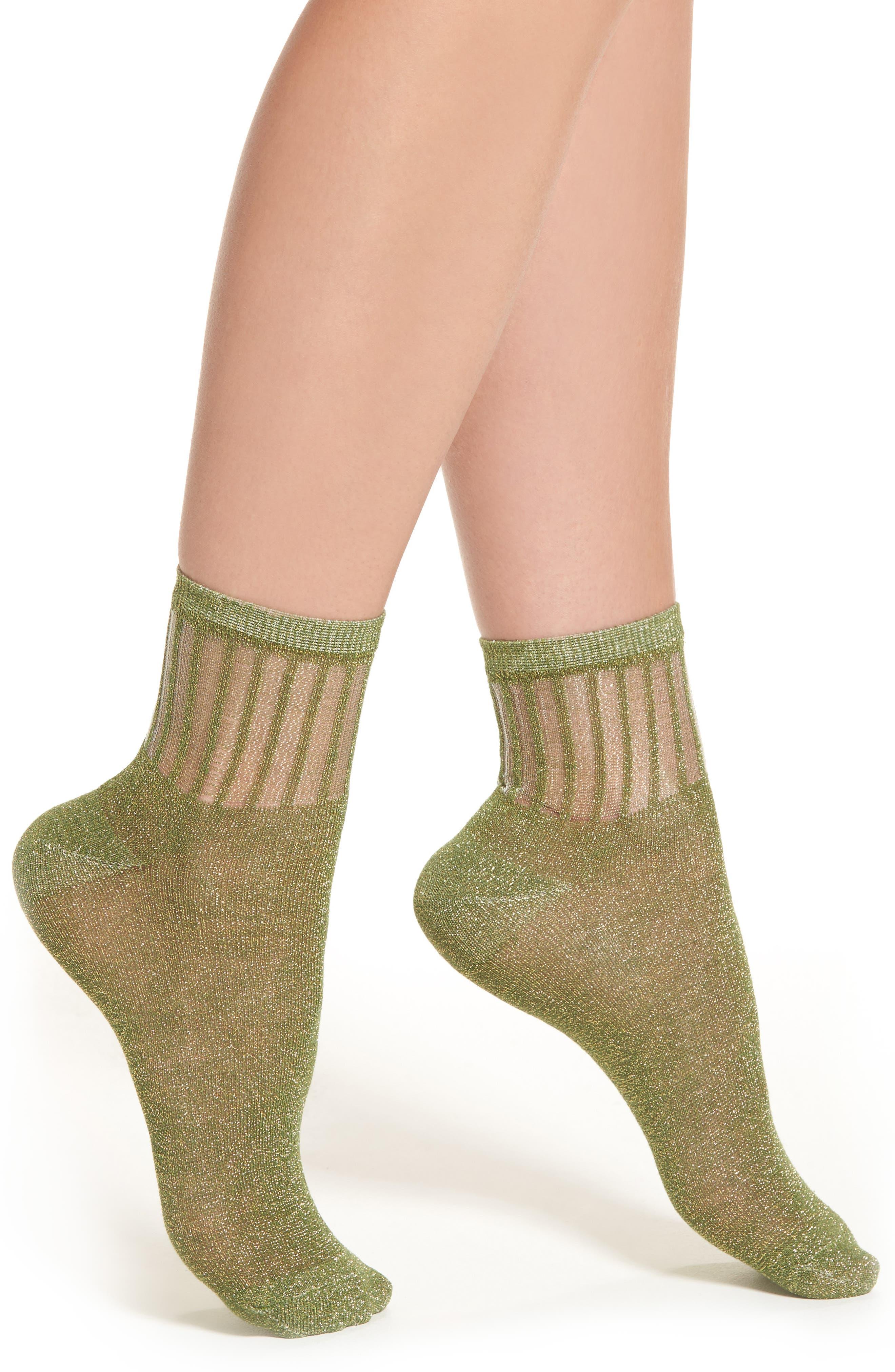 Free People Roseland Metallic Ankle Socks