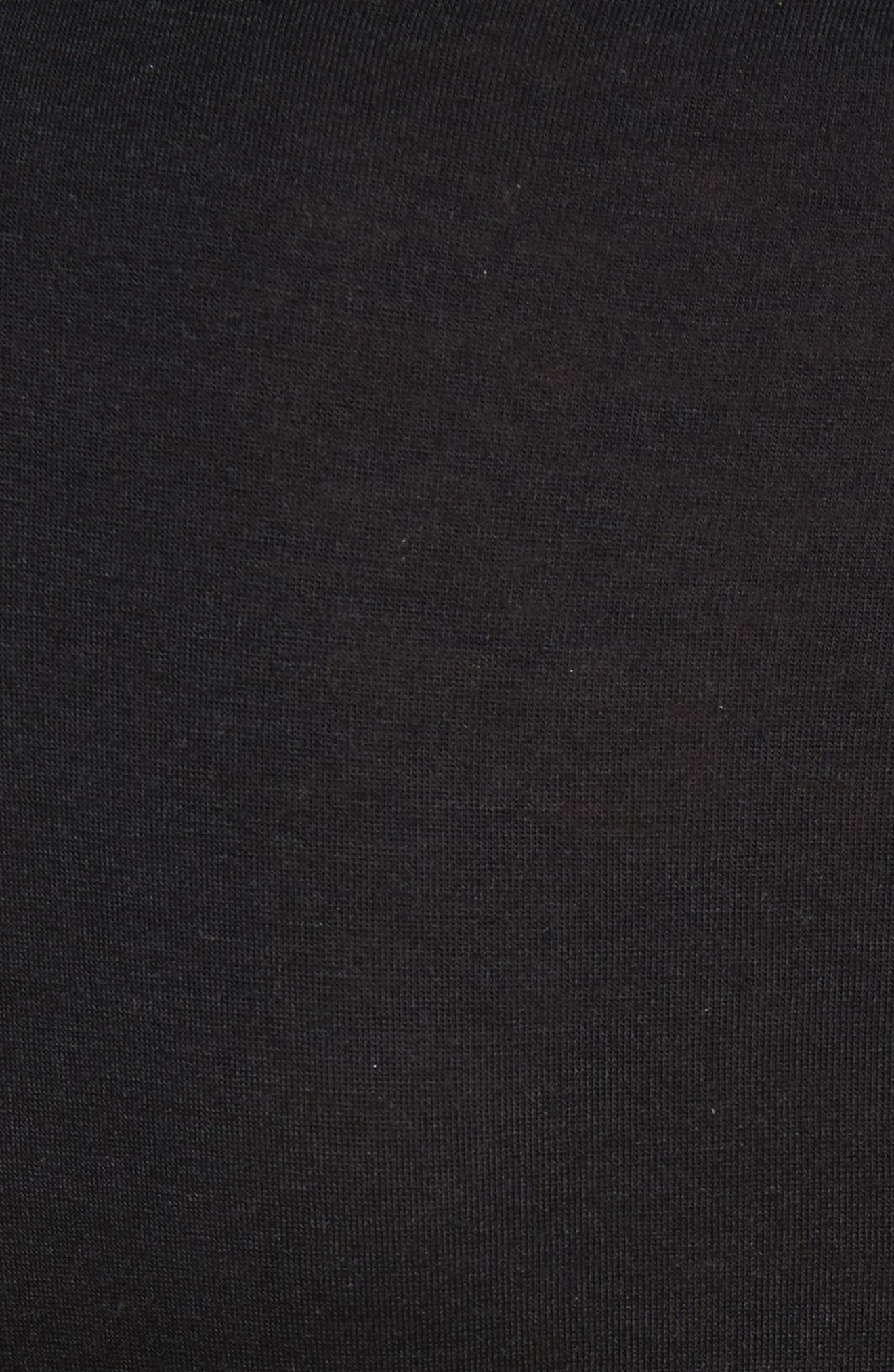 The Perfect Tee Turtleneck,                             Alternate thumbnail 5, color,                             Black