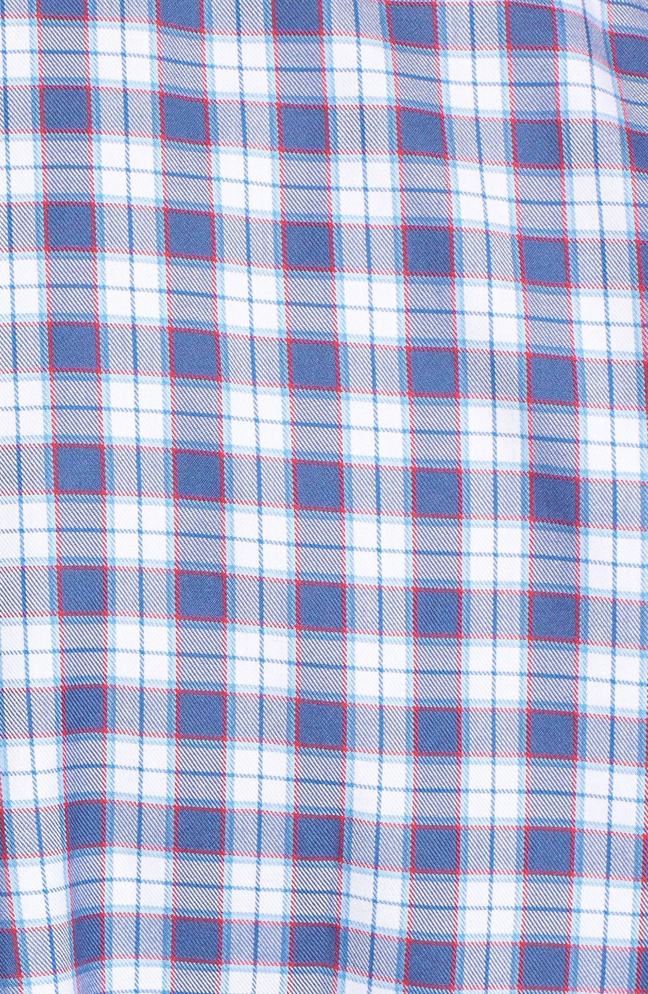 Murray Edgewater Plaid Classic Fit Sport Shirt,                             Alternate thumbnail 5, color,                             Moonshine