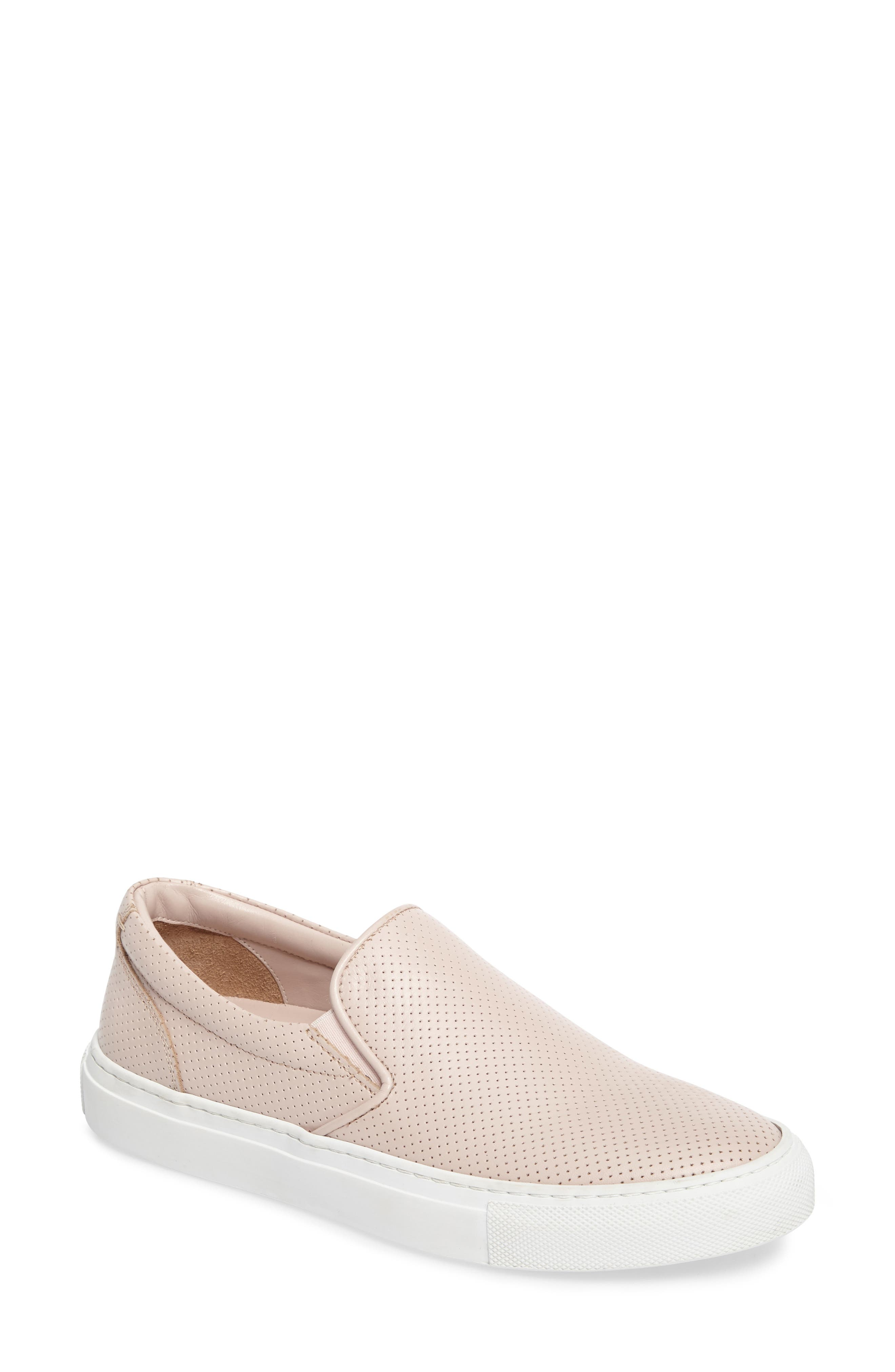 Wooster Slip-On Sneaker,                             Main thumbnail 1, color,                             Blush Perforated