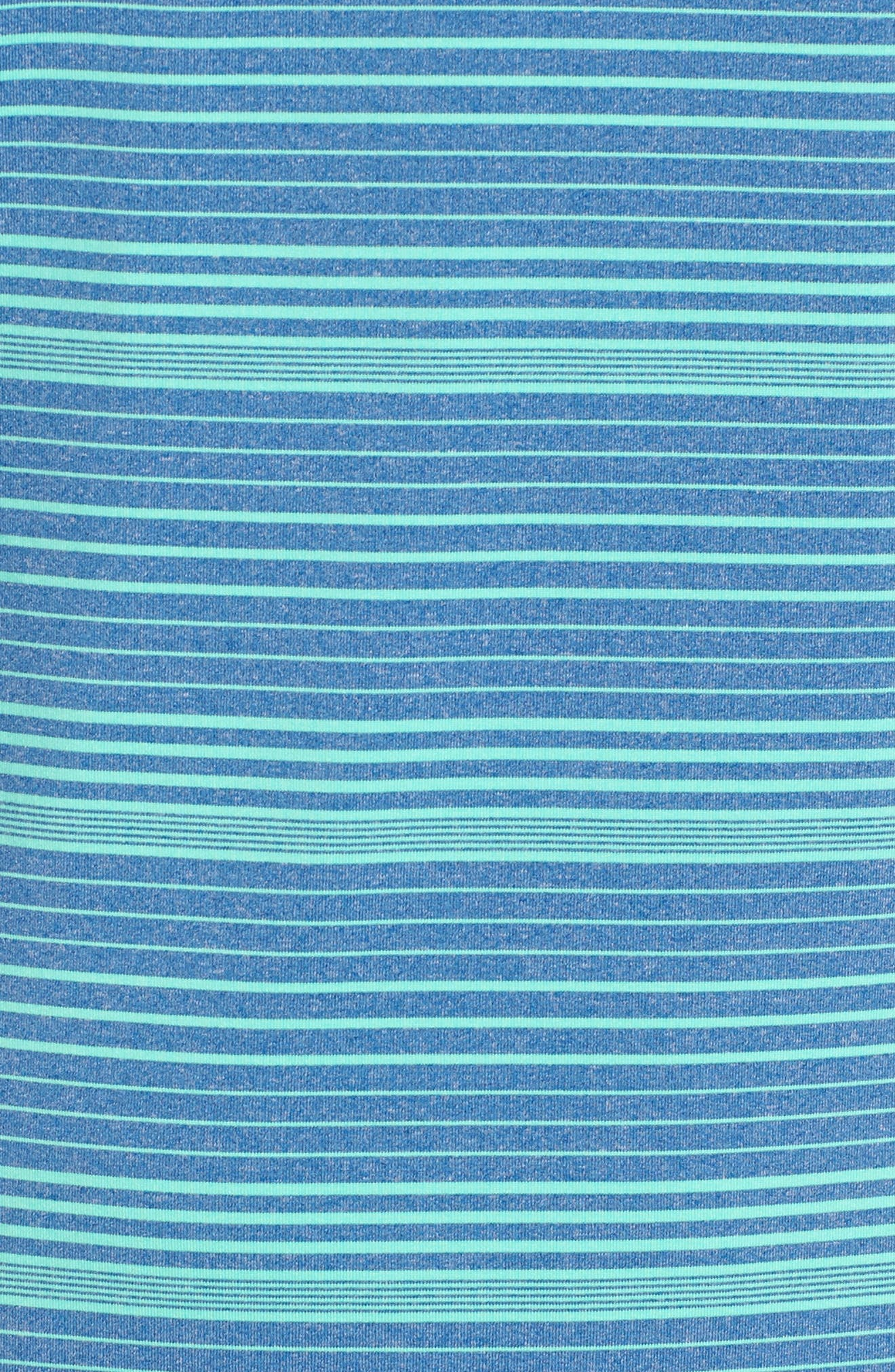 Cateonic Stripe Performance Polo,                             Alternate thumbnail 5, color,                             Kingfisher