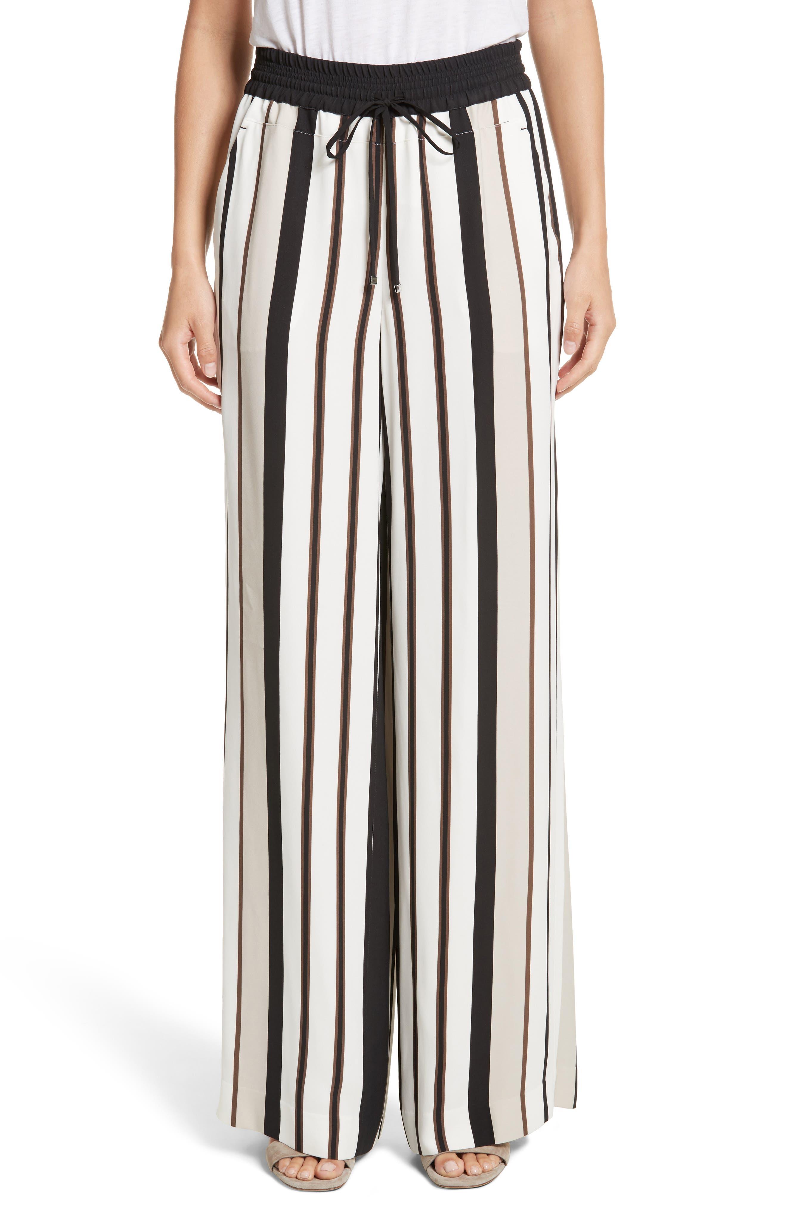 Allen Legacy Stripe Drape Cloth Pants,                             Main thumbnail 1, color,                             Black Multi