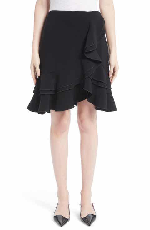 Proenza Schouler Ruffle Stretch Cady Skirt
