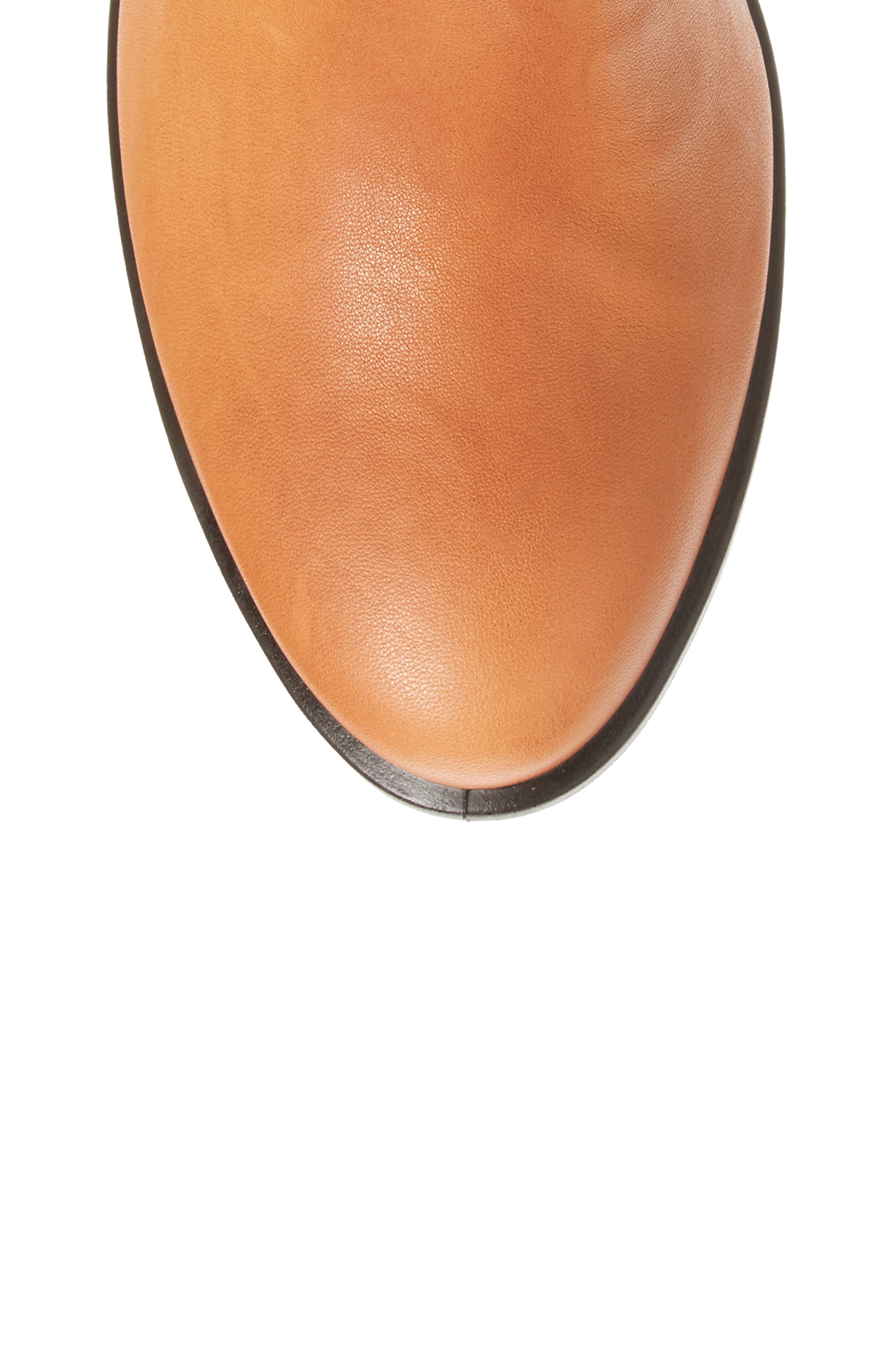 Shape 55 Tall Boot,                             Alternate thumbnail 5, color,                             Cognac Leather