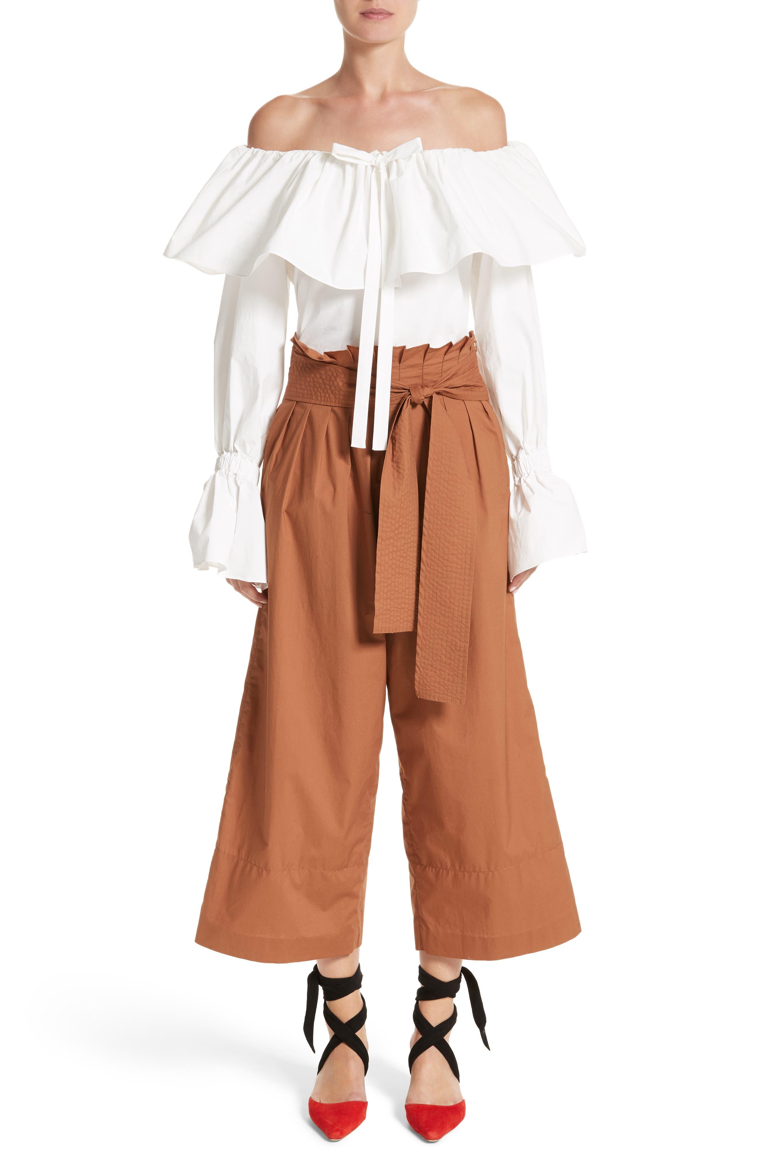 Alternate Image 7  - Rejina Pyo Wide Leg Belted Paperbag Pants