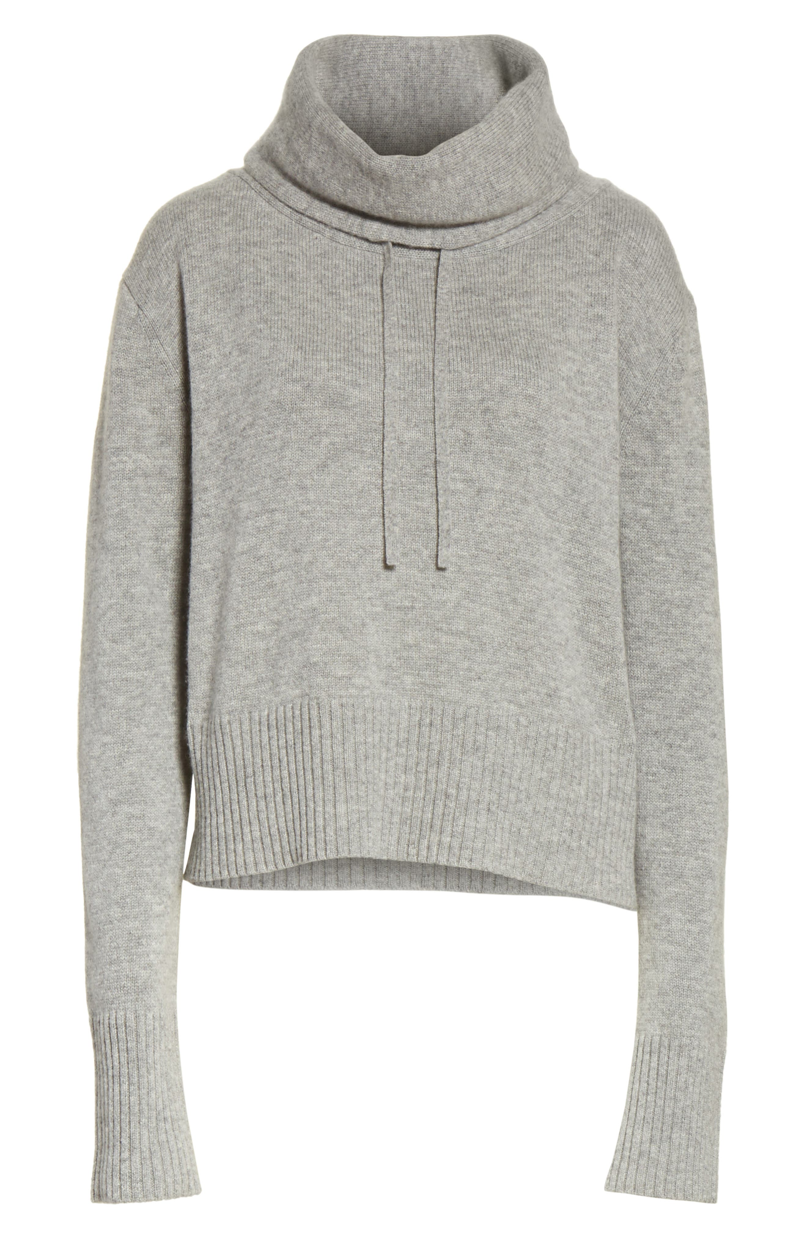 Archie Funnel Neck Wool & Cashmere Sweater,                             Alternate thumbnail 6, color,                             Husky