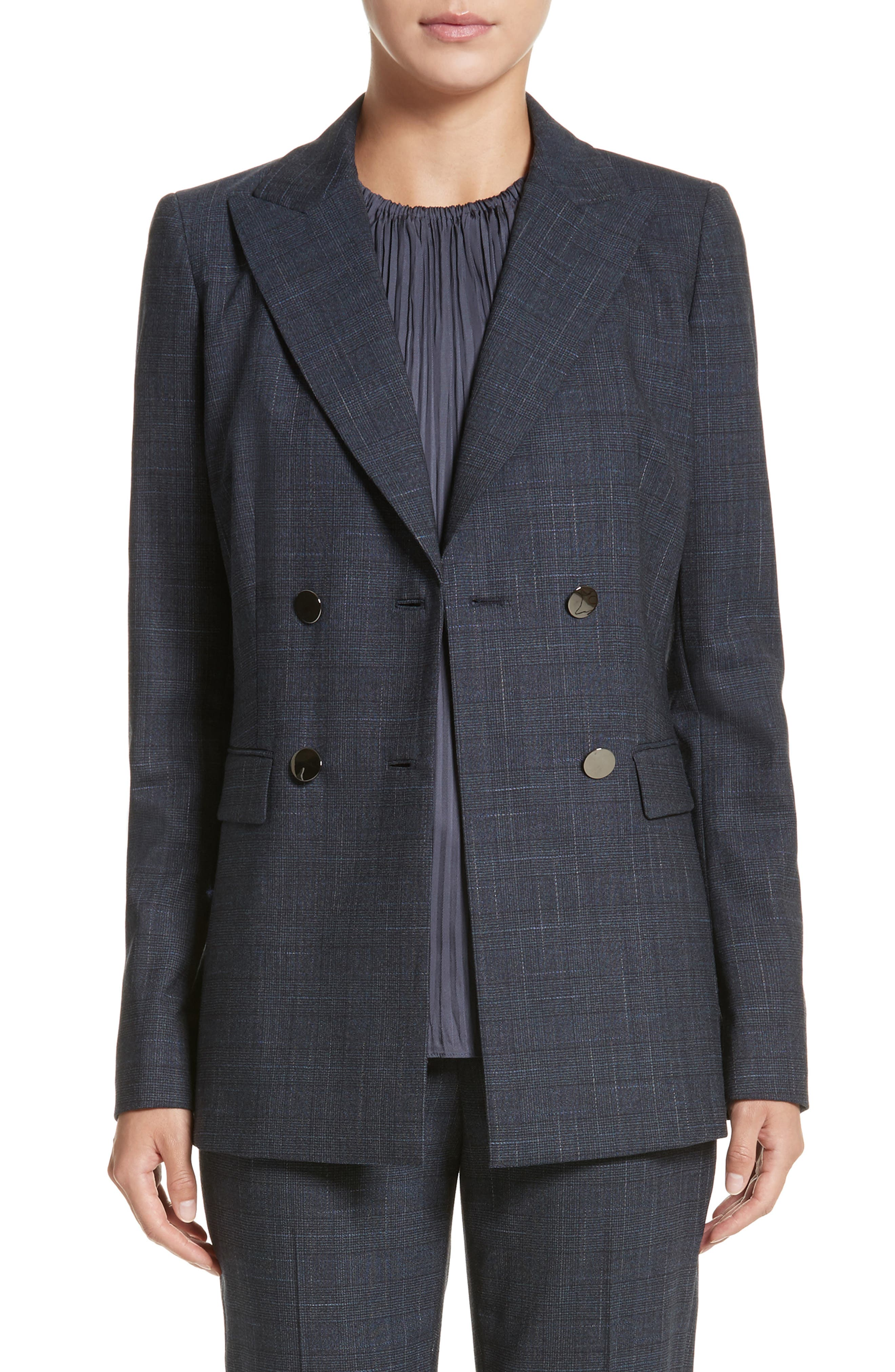 Renee Double Breasted Blazer,                         Main,                         color, Ink Multi