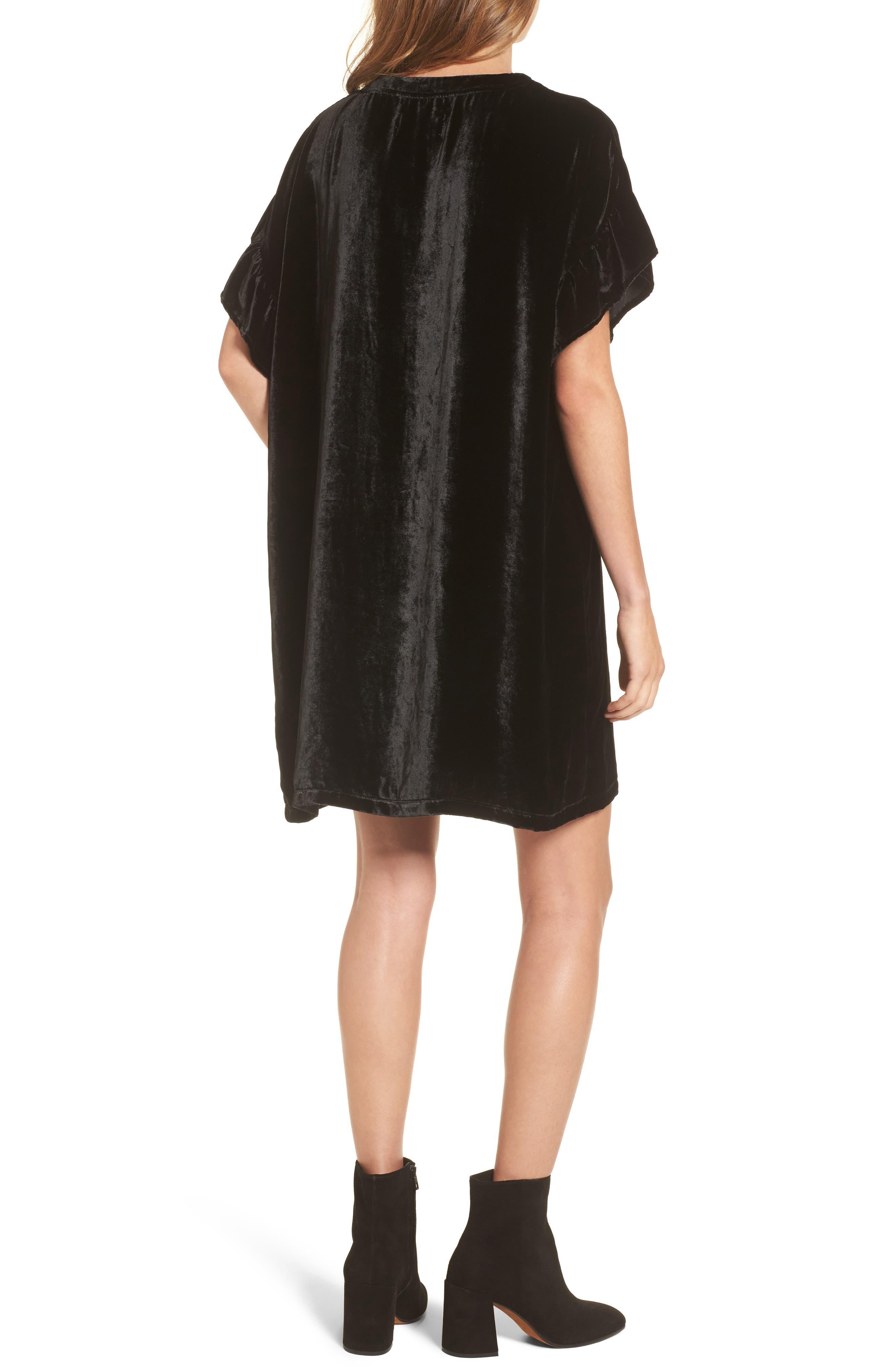 Alternate Image 2  - Current/Elliott The Janie Velvet Shift Dress