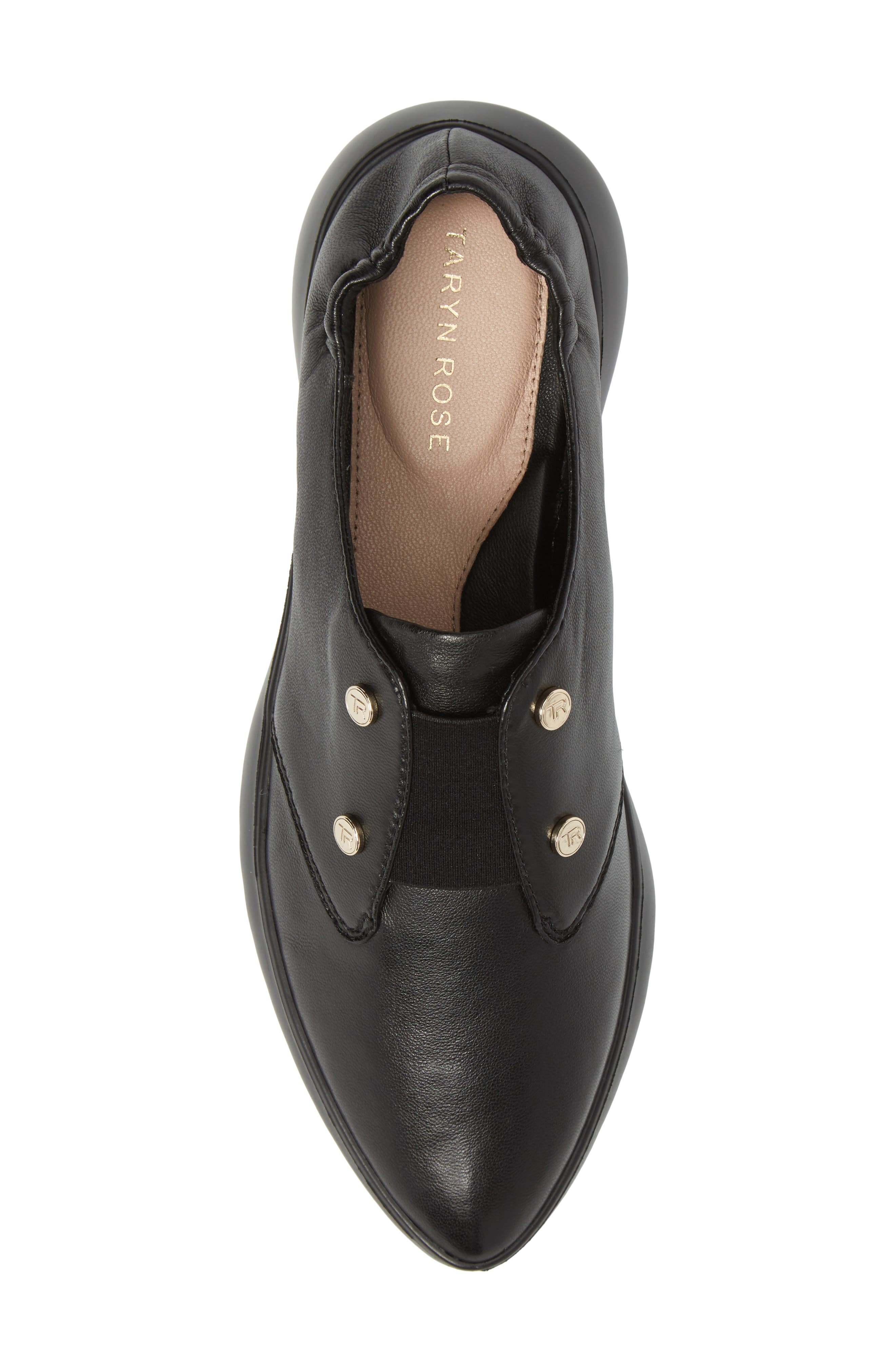 Darcy Slip-On Oxford,                             Alternate thumbnail 5, color,                             Black Leather