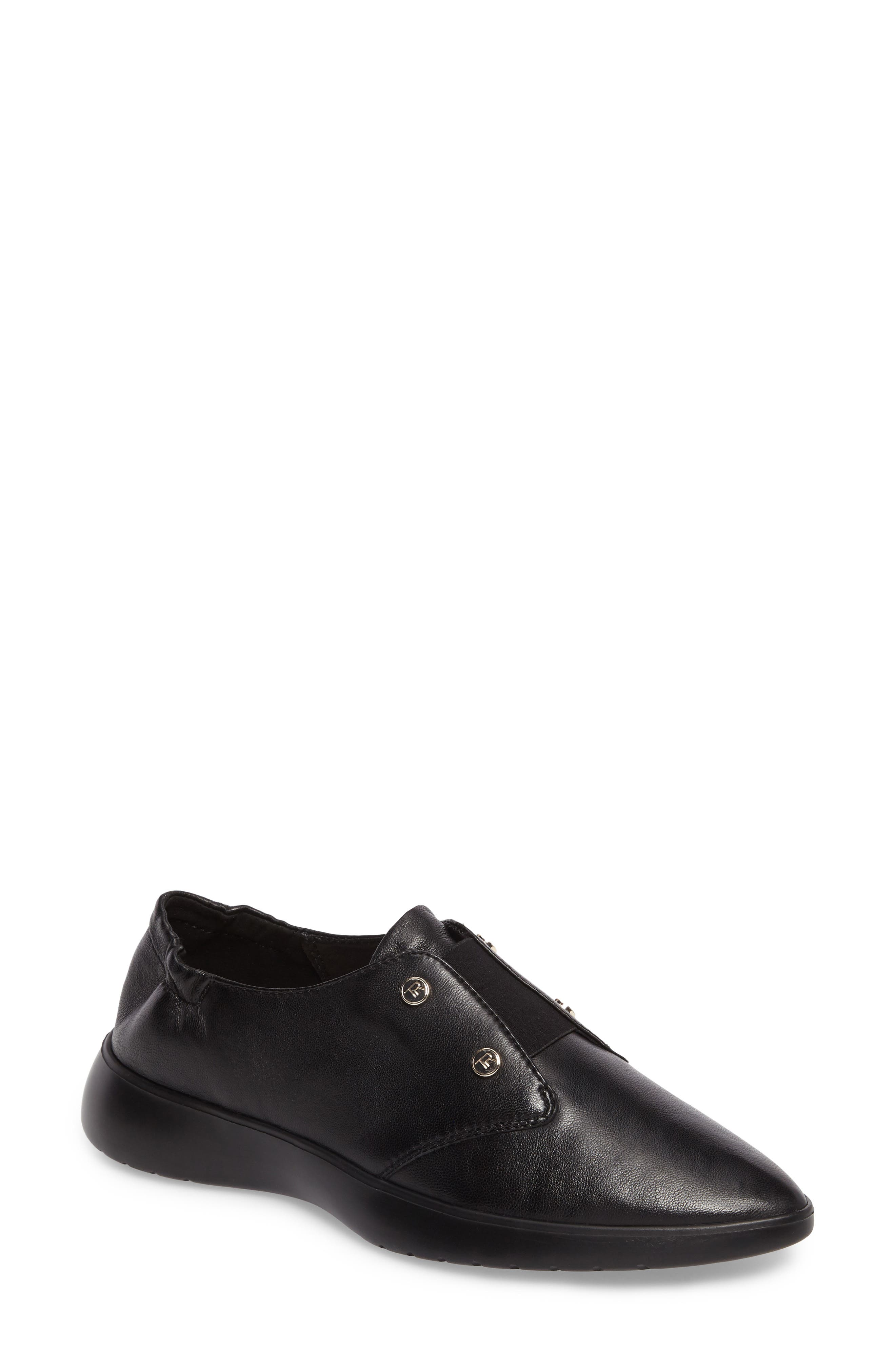 Darcy Slip-On Oxford,                             Main thumbnail 1, color,                             Black Leather